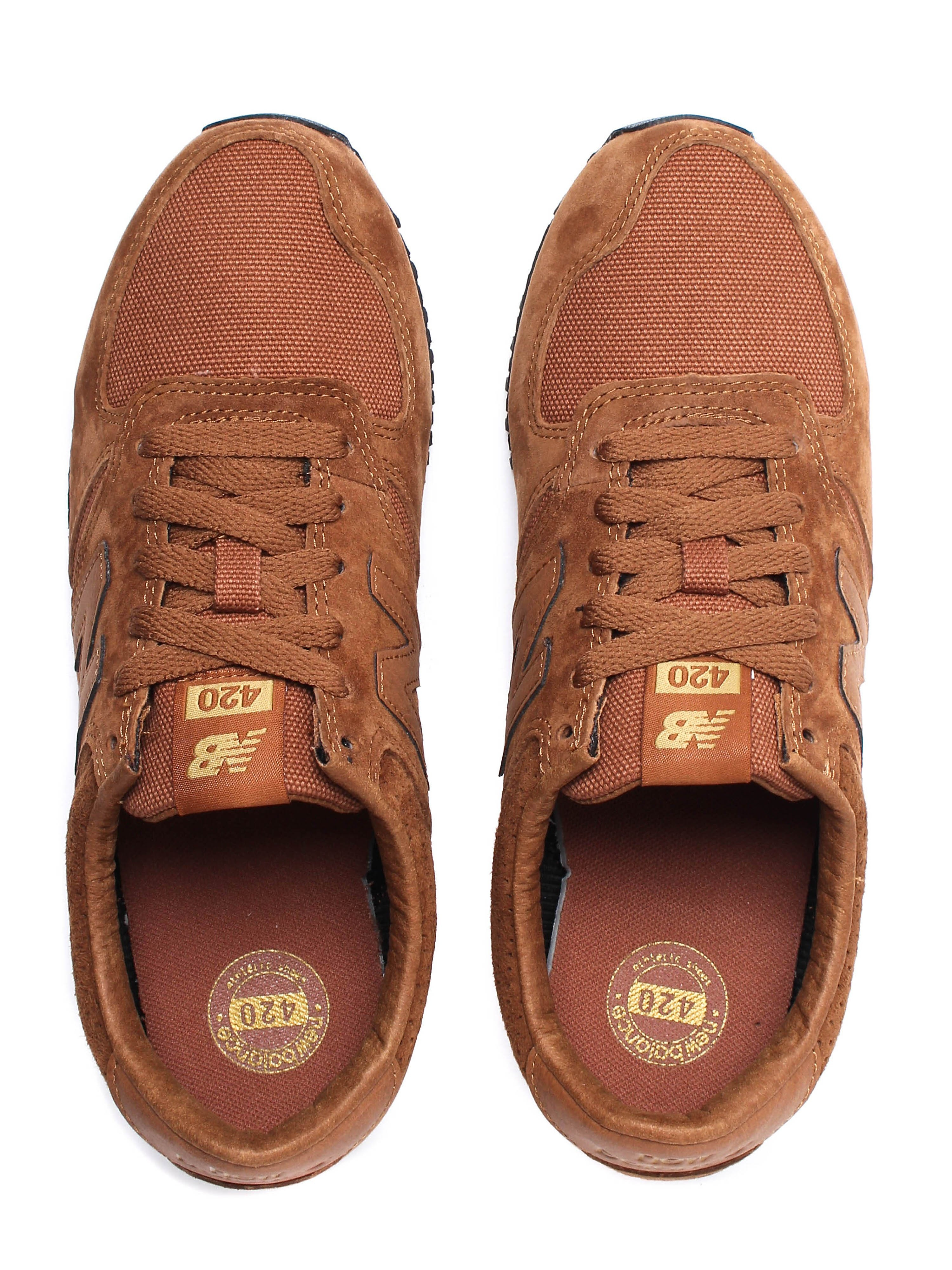 New Balance Women's 420 Trainers - Brown Suede