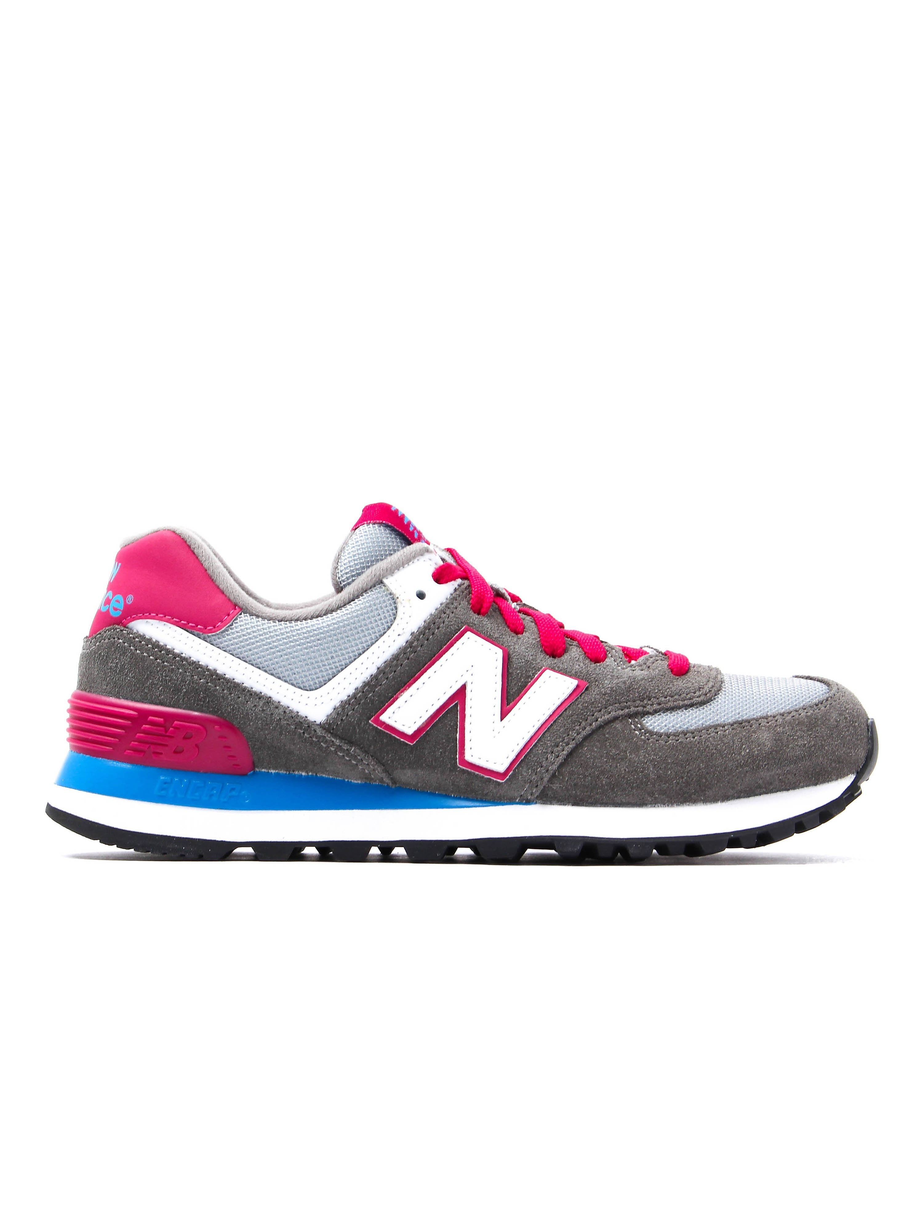 New Balance Women's 574 Low Top Trainers - Grey Suede
