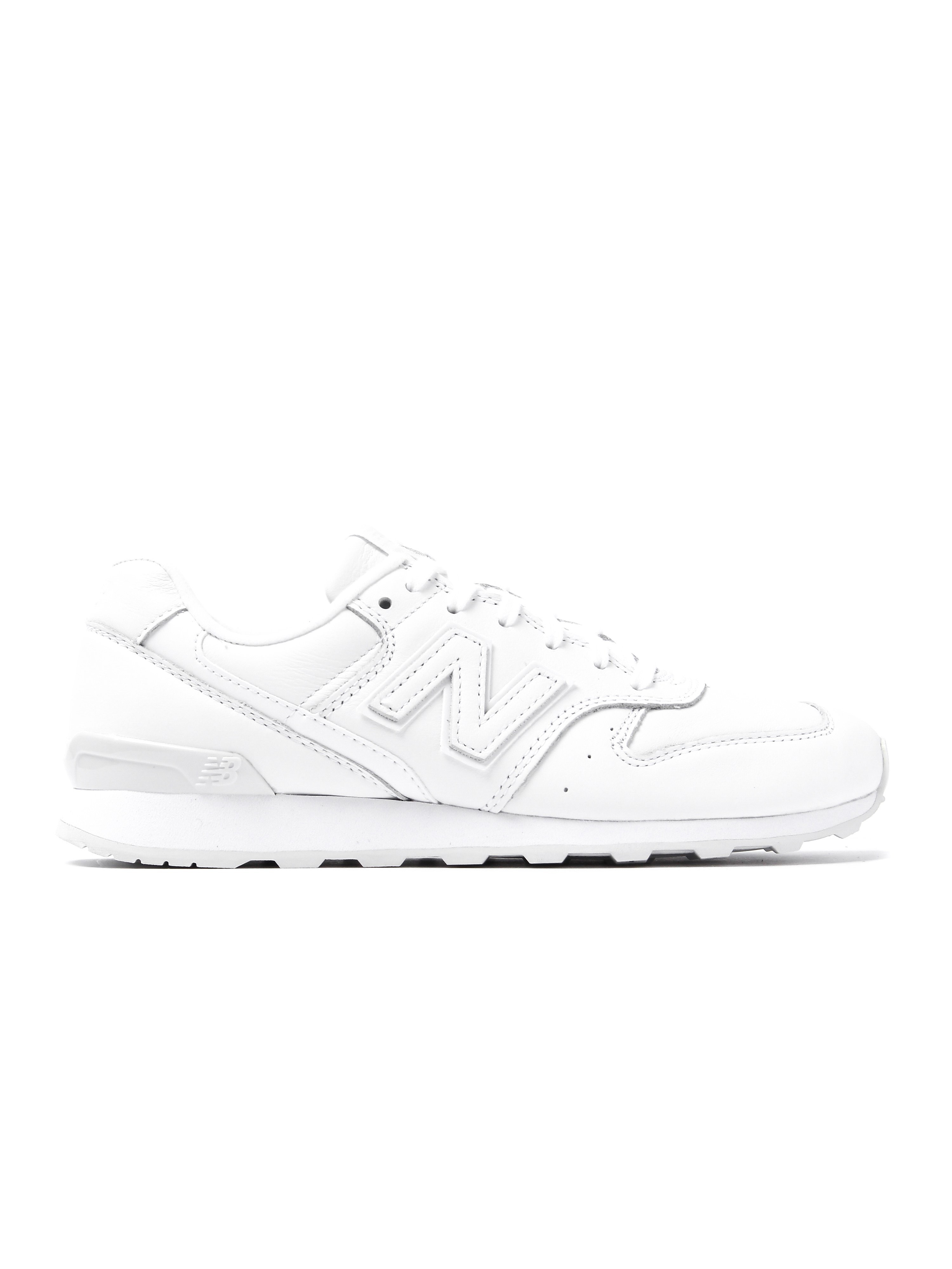 New Balance Women's 996 Low Top Trainers - All White Leather