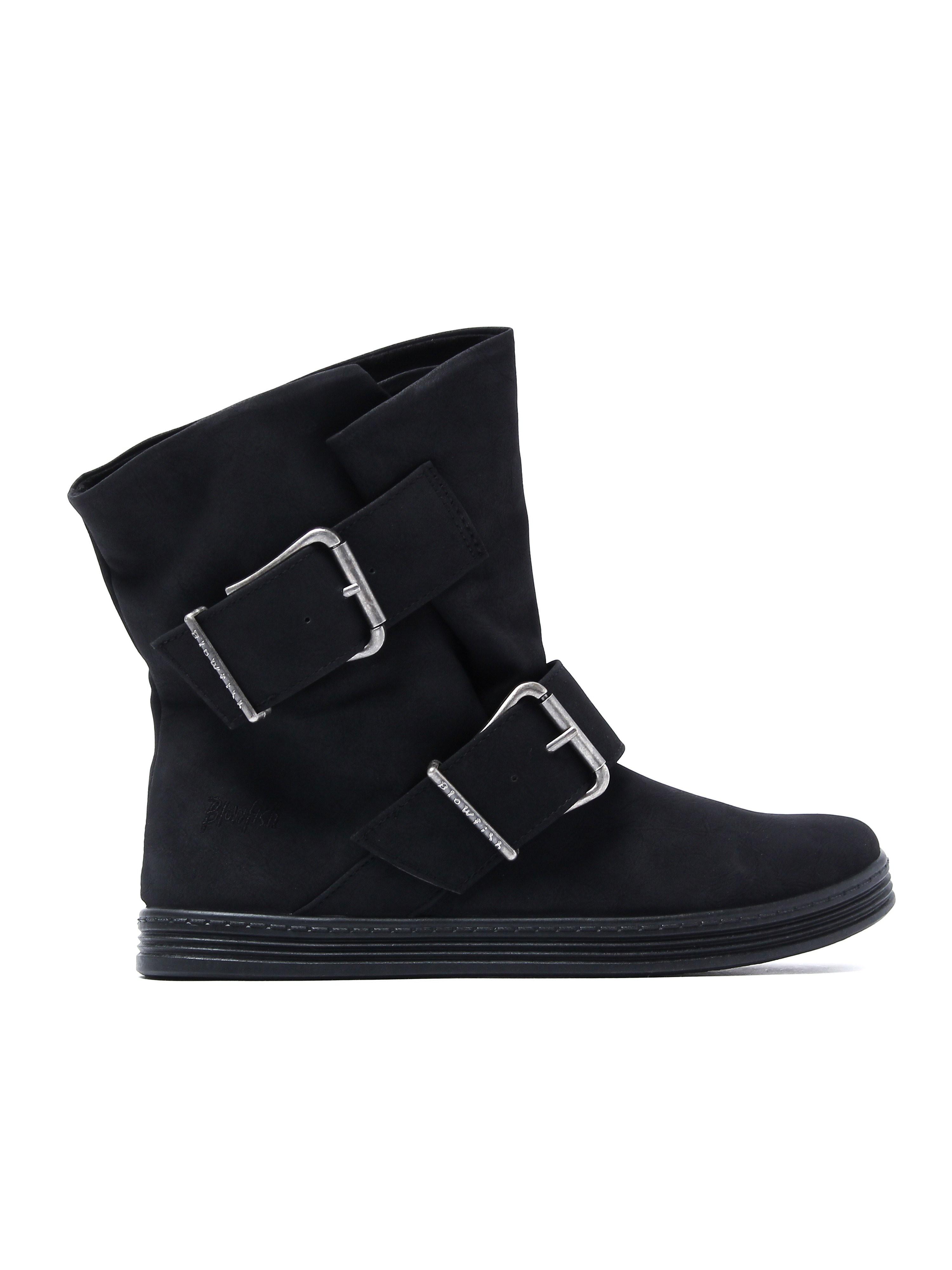 Blowfish Women's Fire Ankle Boots - Black Dallas Suede