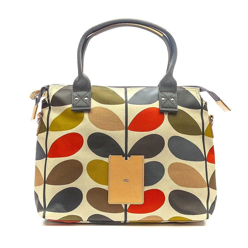 Orla Kiely Women's Zip Messenger Bag - Multi Stem