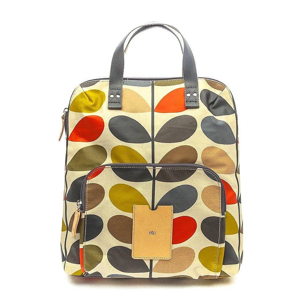 Orla Kiely Women's Backpack Tote - Multi Stem