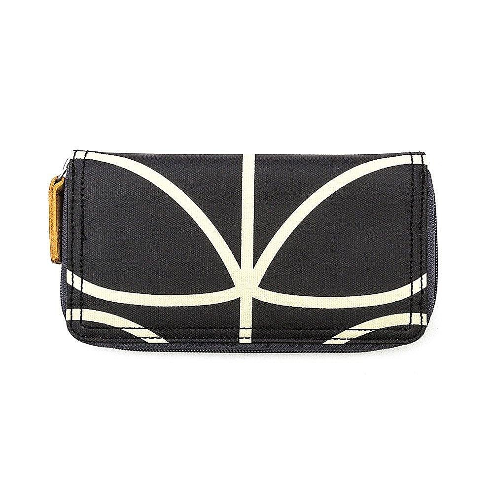 Orla Kiely Women's Big Zip Wallet - Black