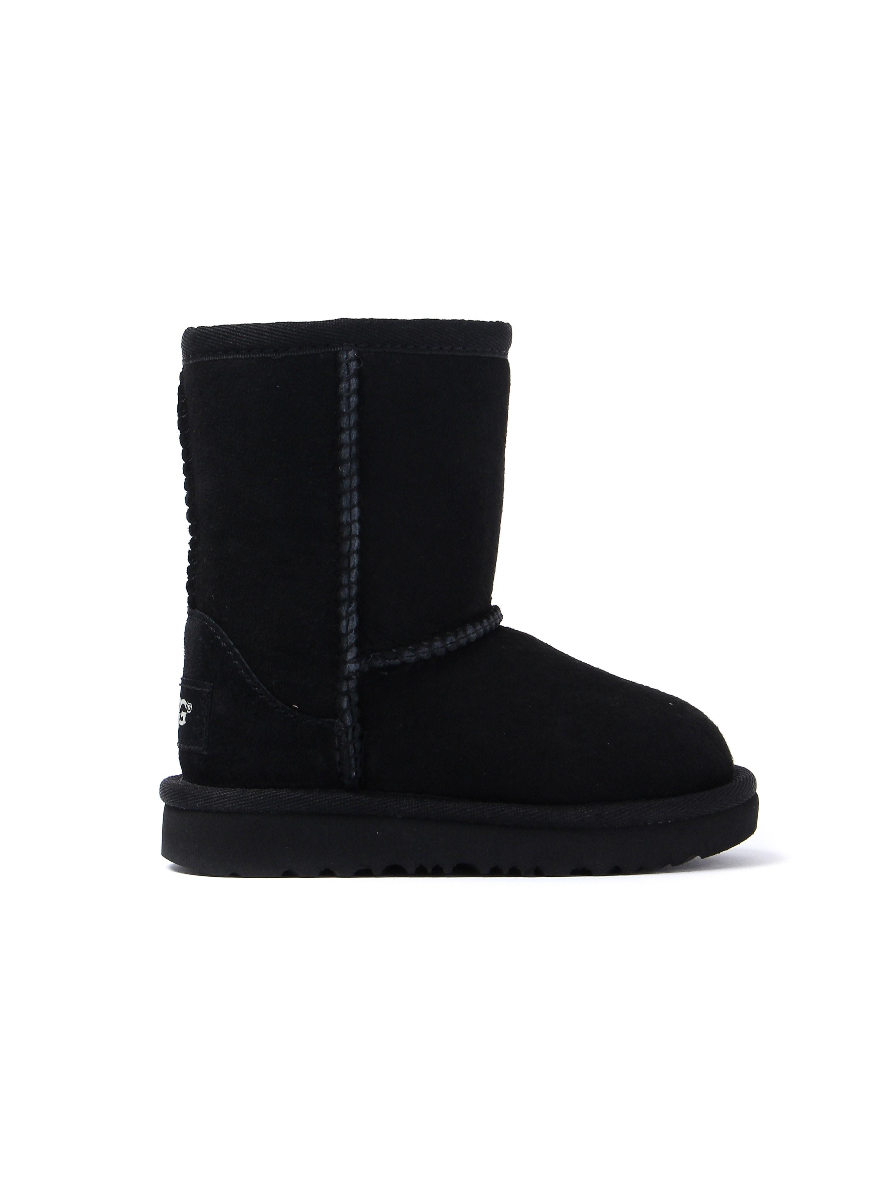 UGG Infant Classic II Short Sheepskin Boots - Black