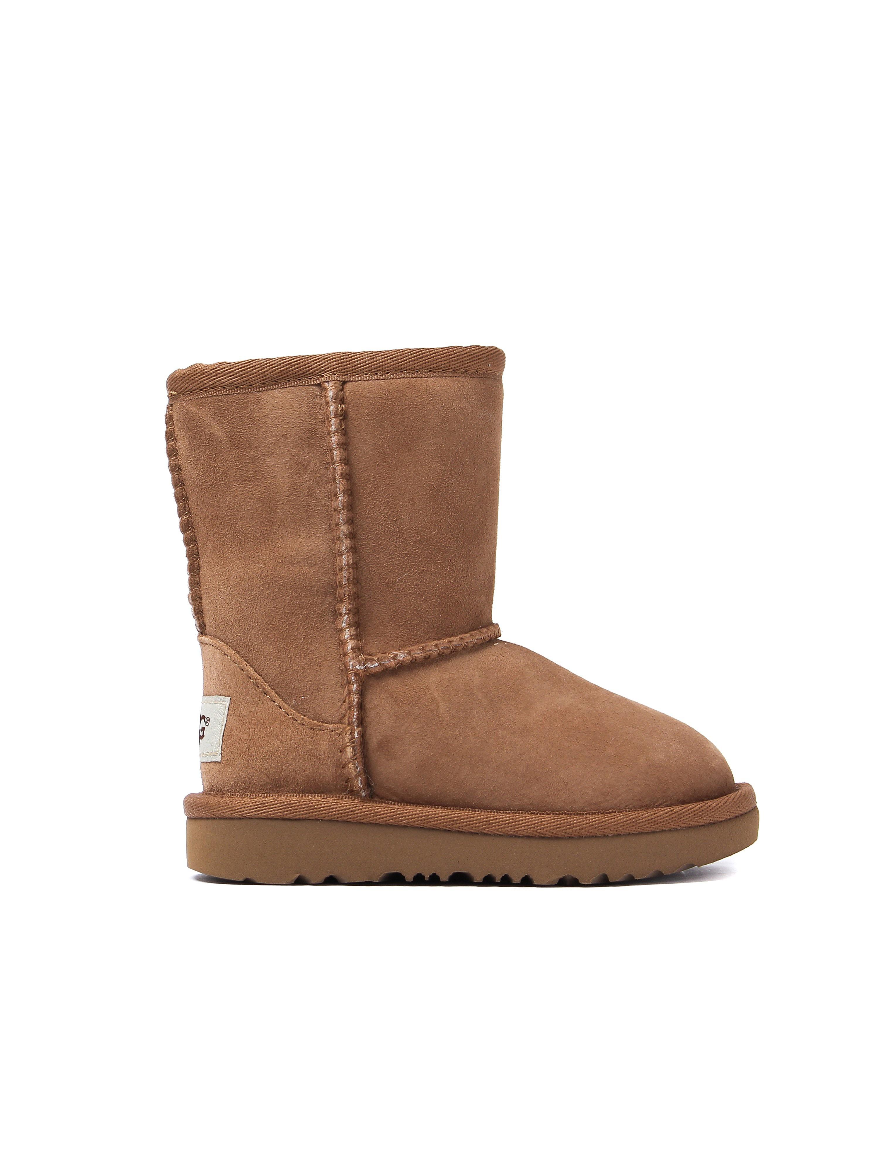 UGG Infant Classic Short II Sheepskin Boots - Chestnut