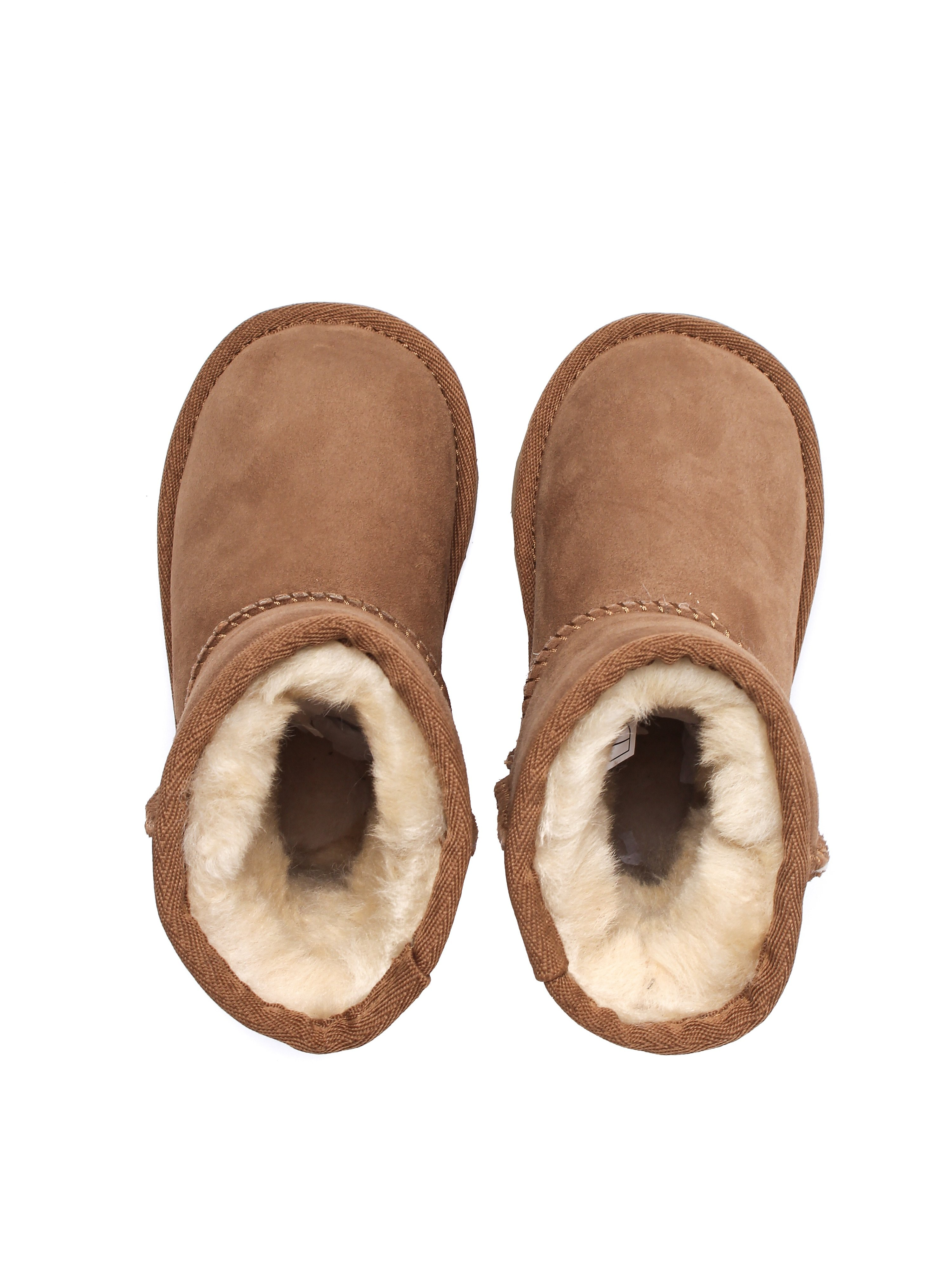 UGG Infant Classic Short II Sheepskin Boots - Chestnut