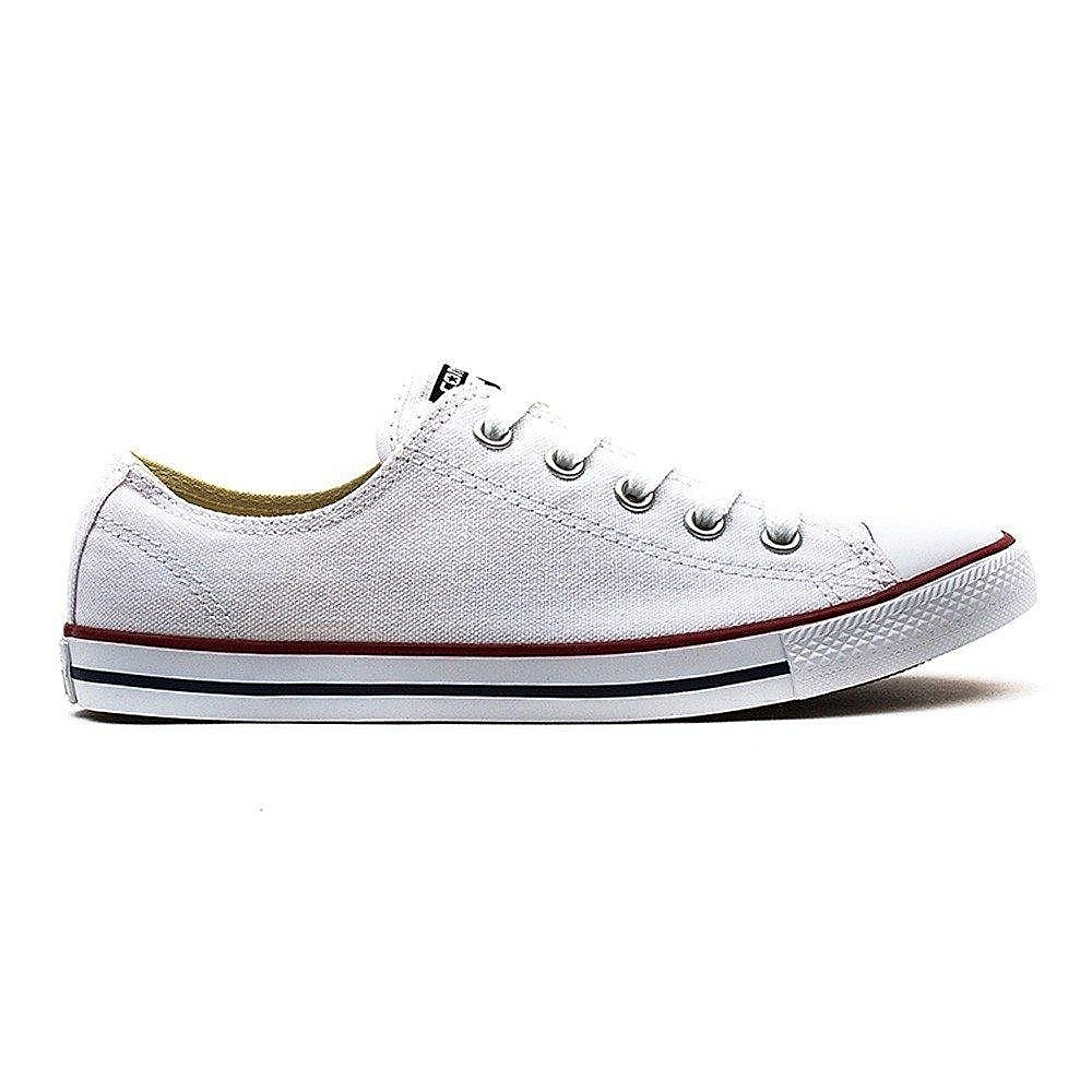 Converse Women's Chuck Taylor All Star Dainty OX Canvas Trainers - White