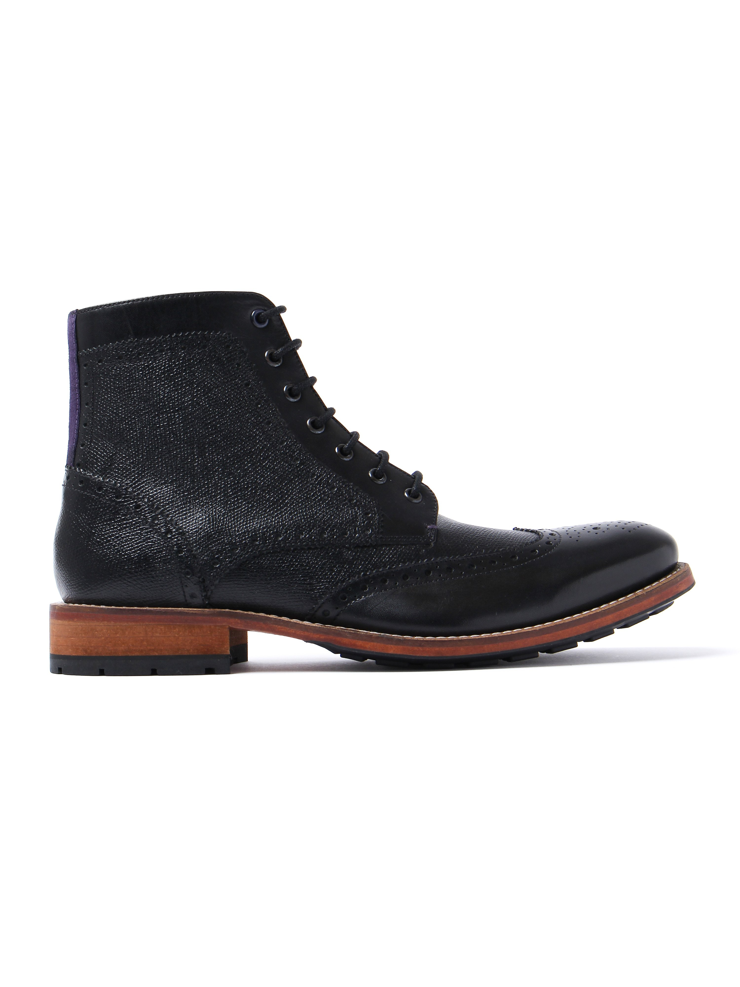 Ted Baker Women's Sealls 3 Brogue Boots - Black Leather