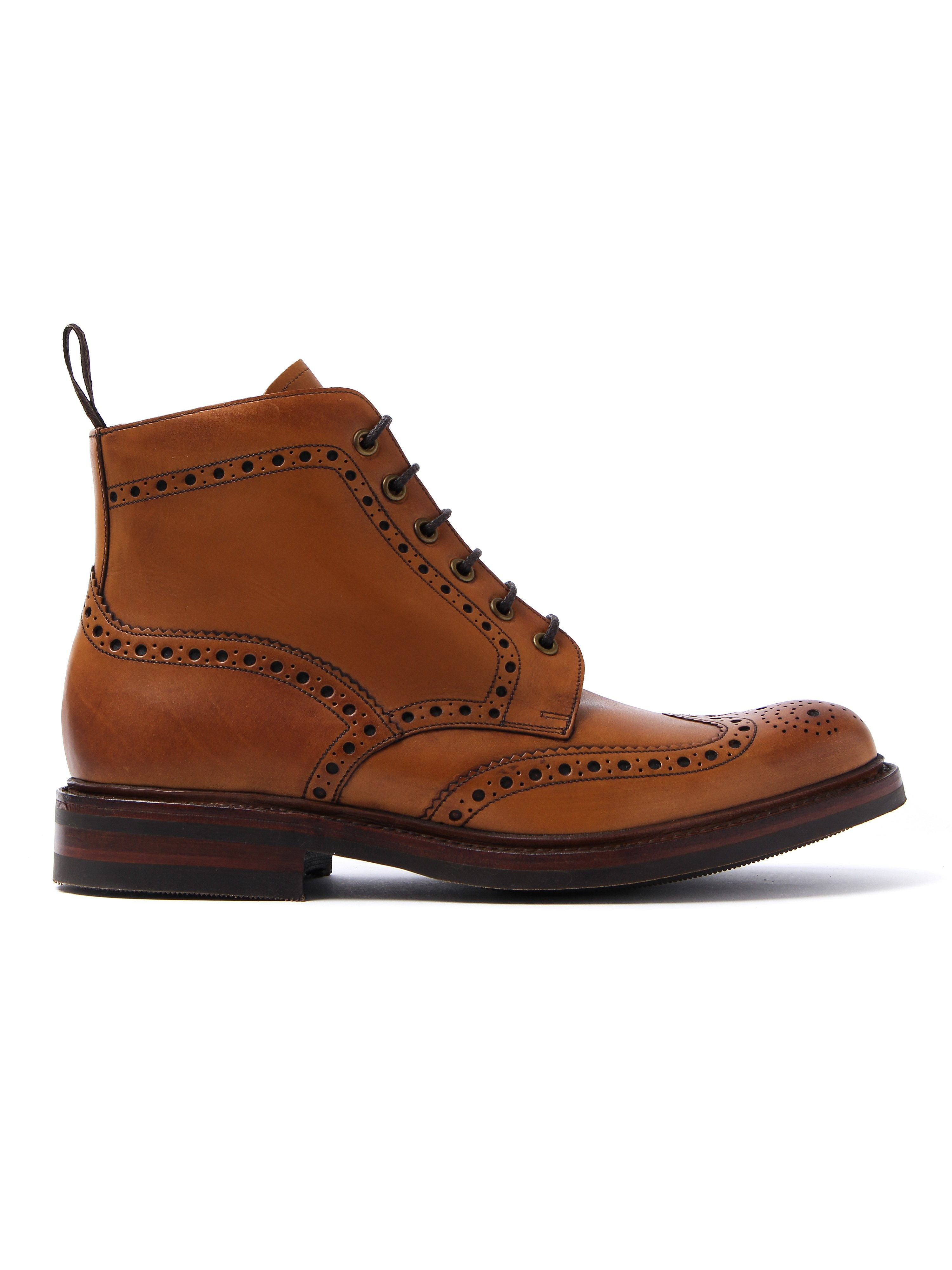 Loake Men's Bedale Brogue Boots - Tan Leather