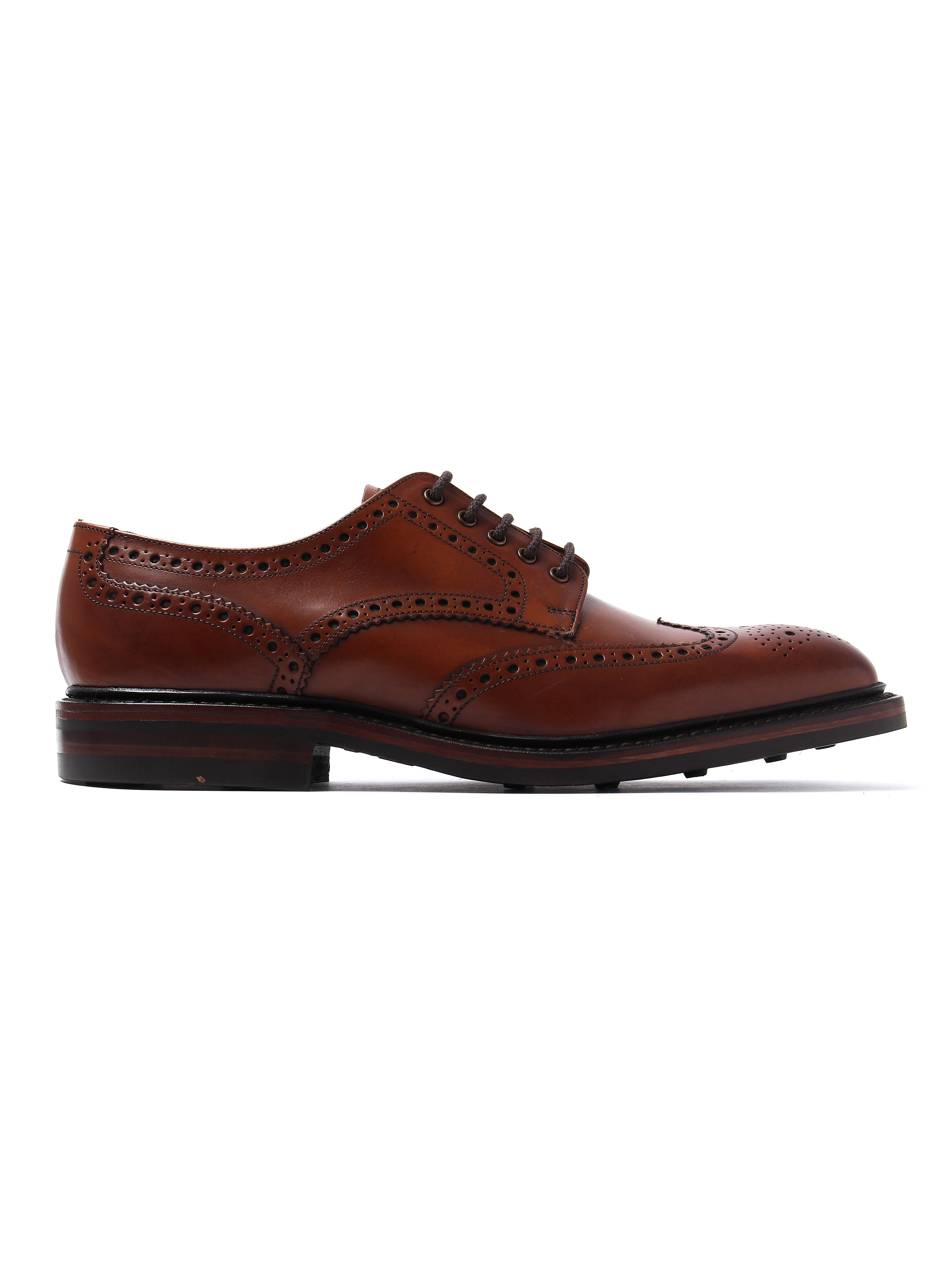 Loake Men's Chester Dainite Brogues - Mahogany Leather