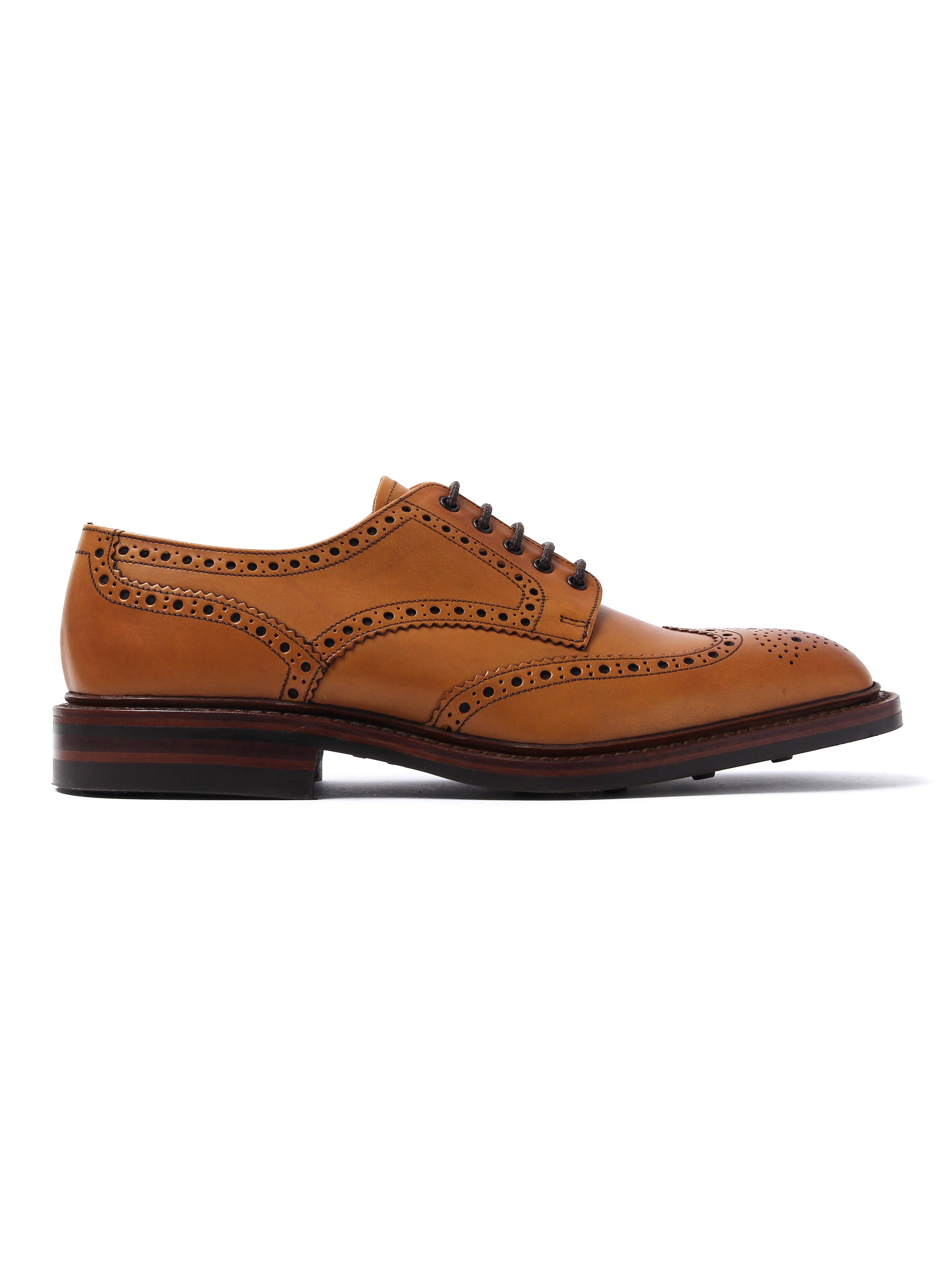 Loake Men's Chester Dainite Brogues - Tan Leather