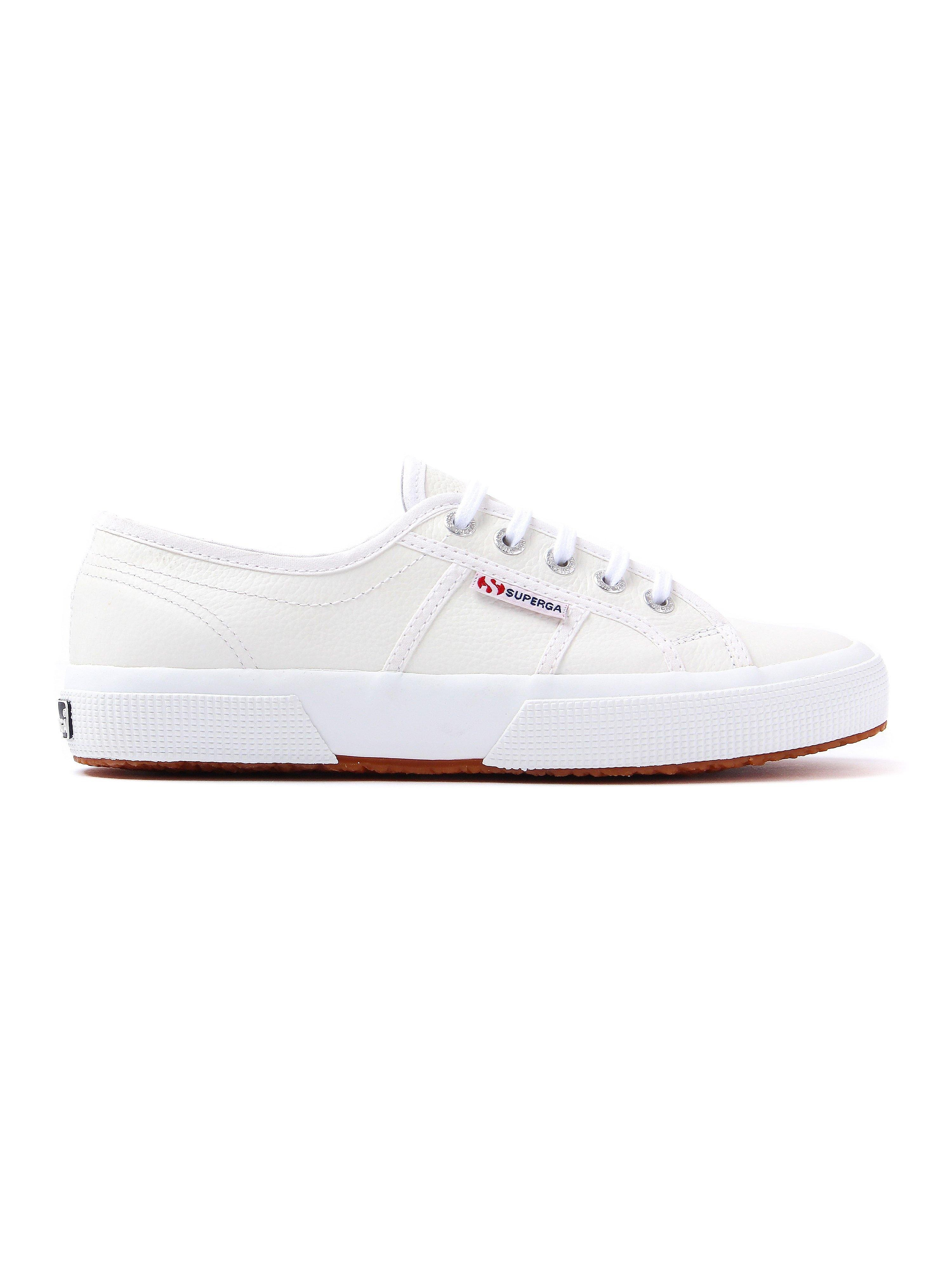 Superga Womens 2750 EFGLU Trainers - White Leather