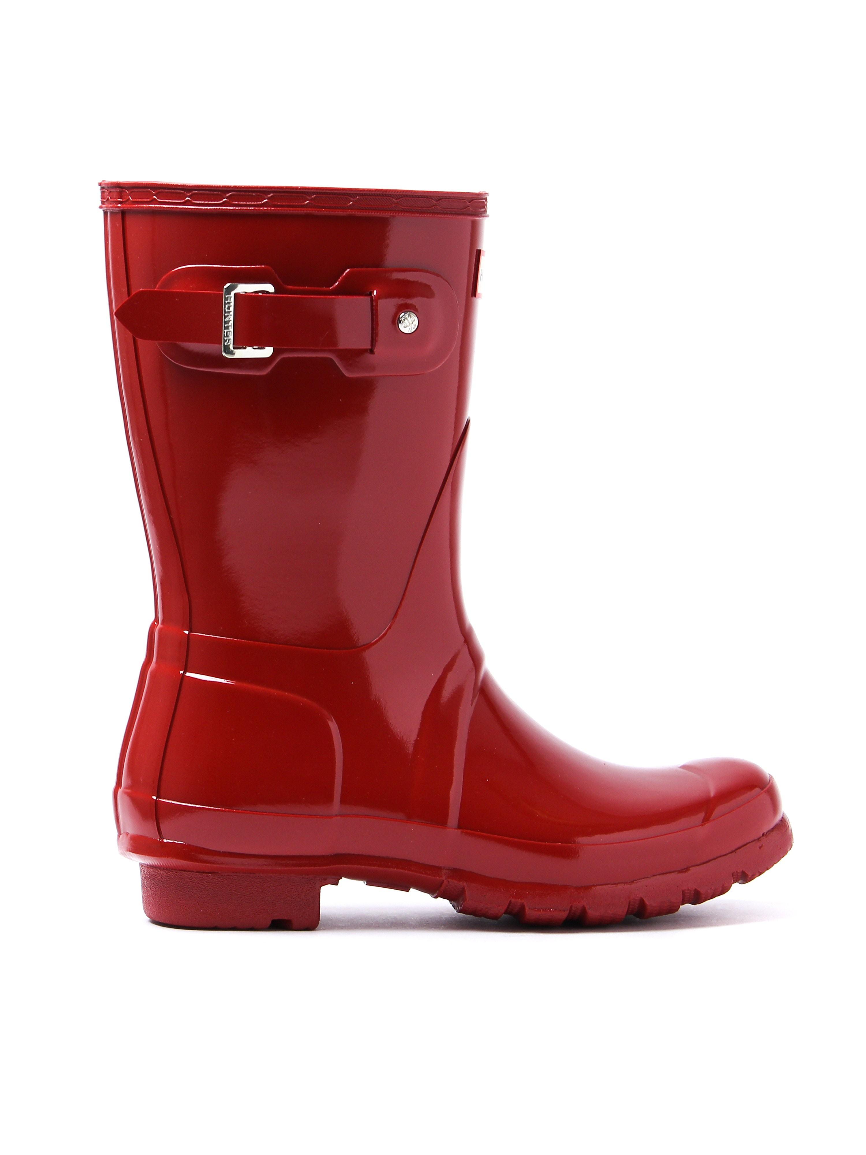 Hunter Wellies Women's Original Short Wellington Boots - Red Gloss