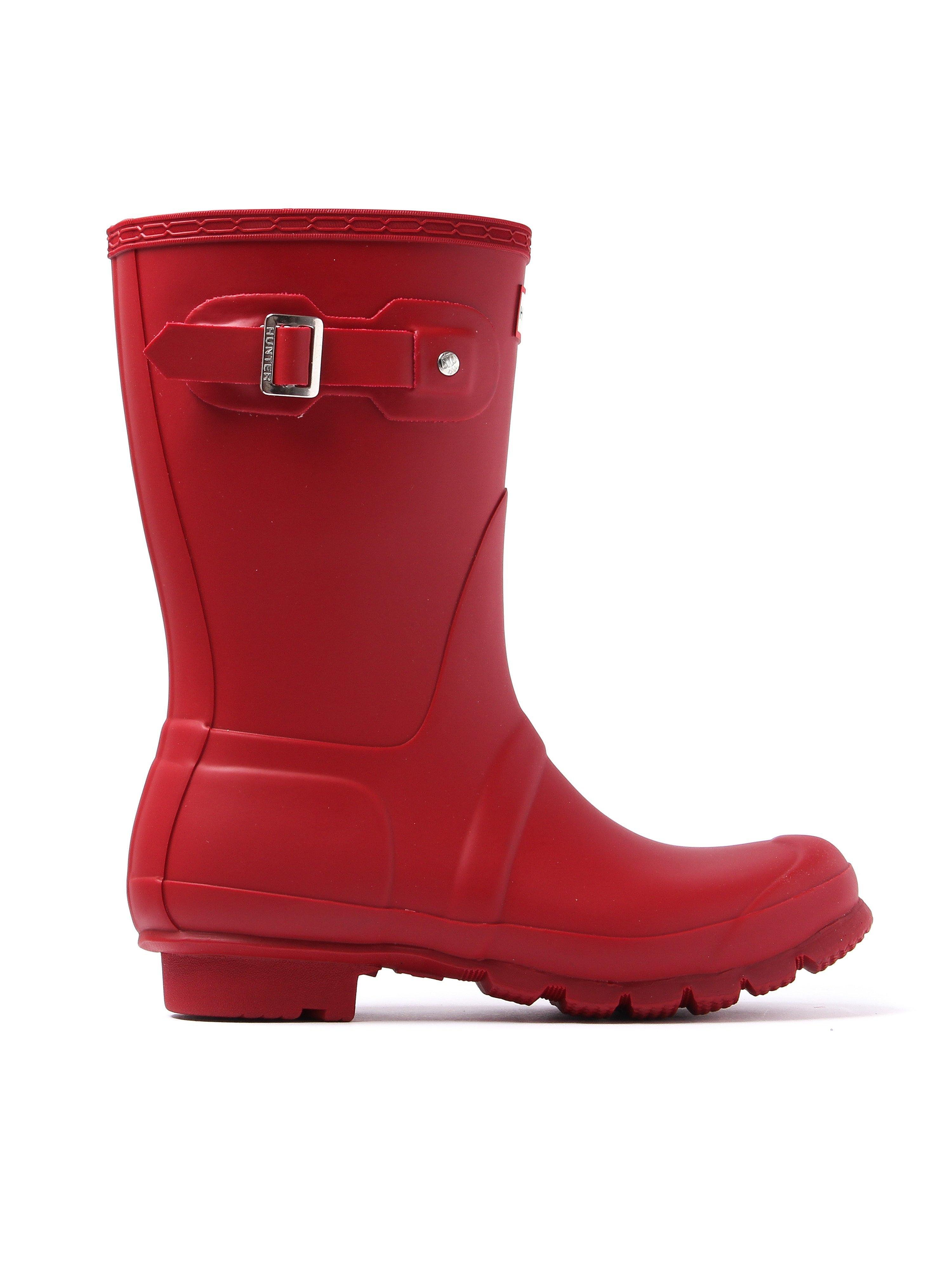 Hunter Wellies Women's Original Short Wellington Boots - Military Red