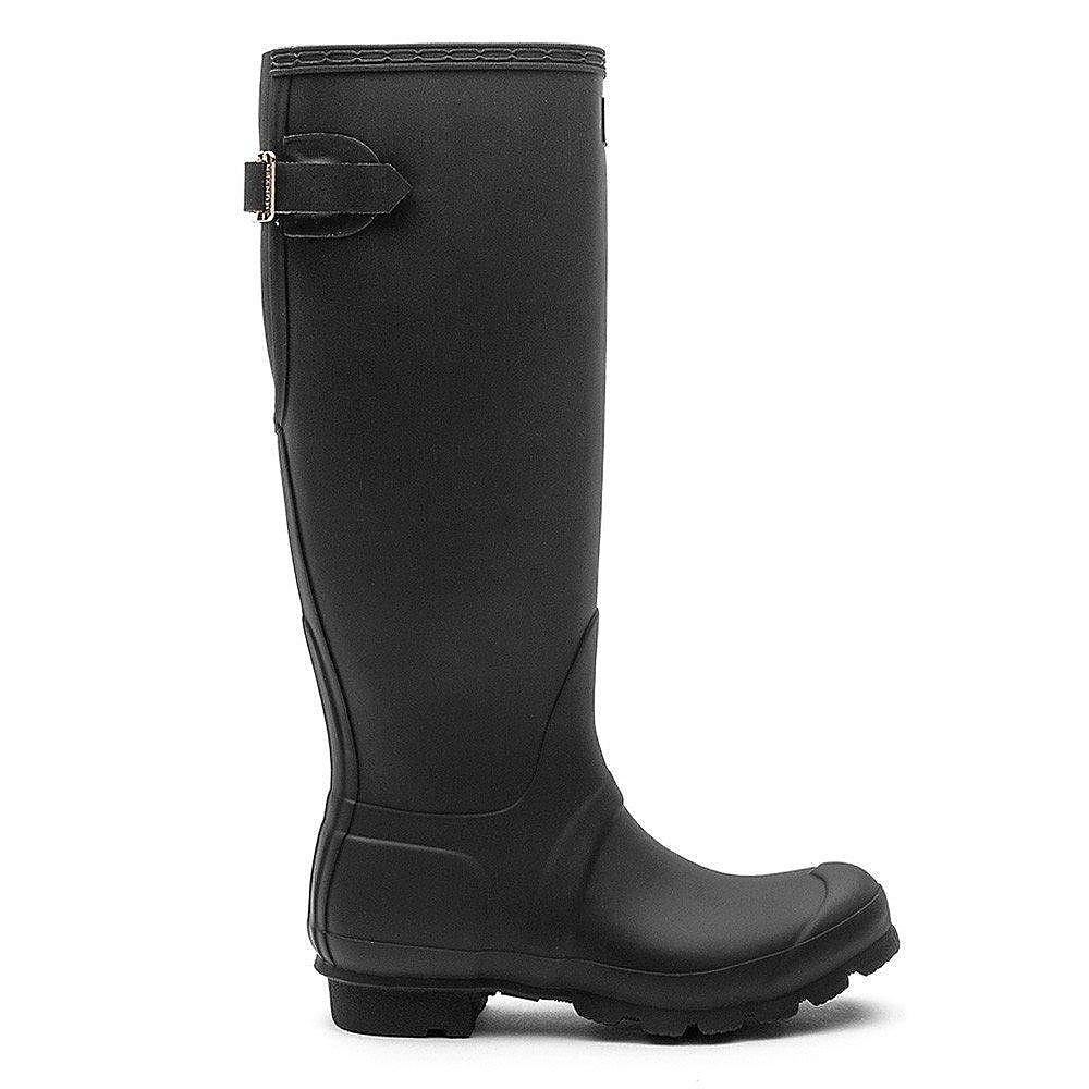 Hunter Wellies Women's Original Back Adjustable Wellington Boots - Black