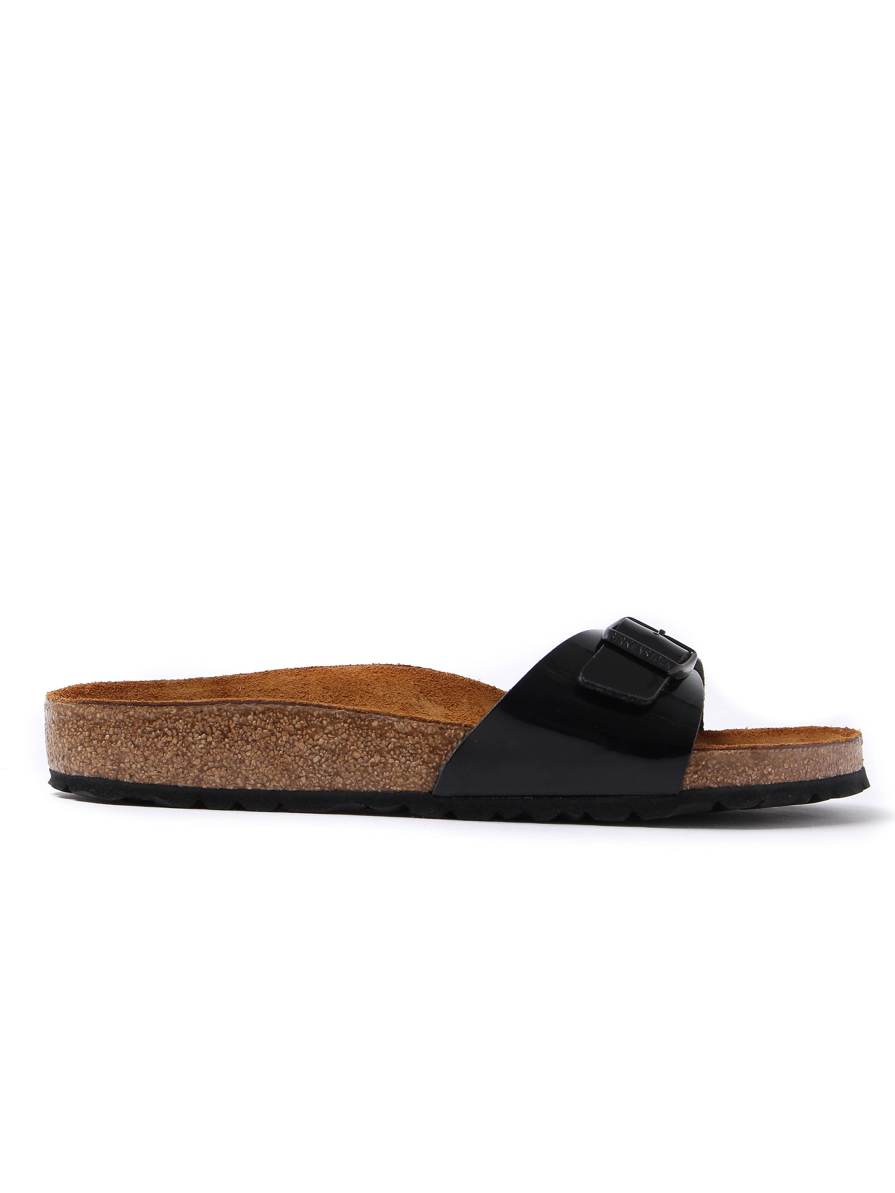 Birkenstock Women's Madrid Single Strap Sandals - Black Patent
