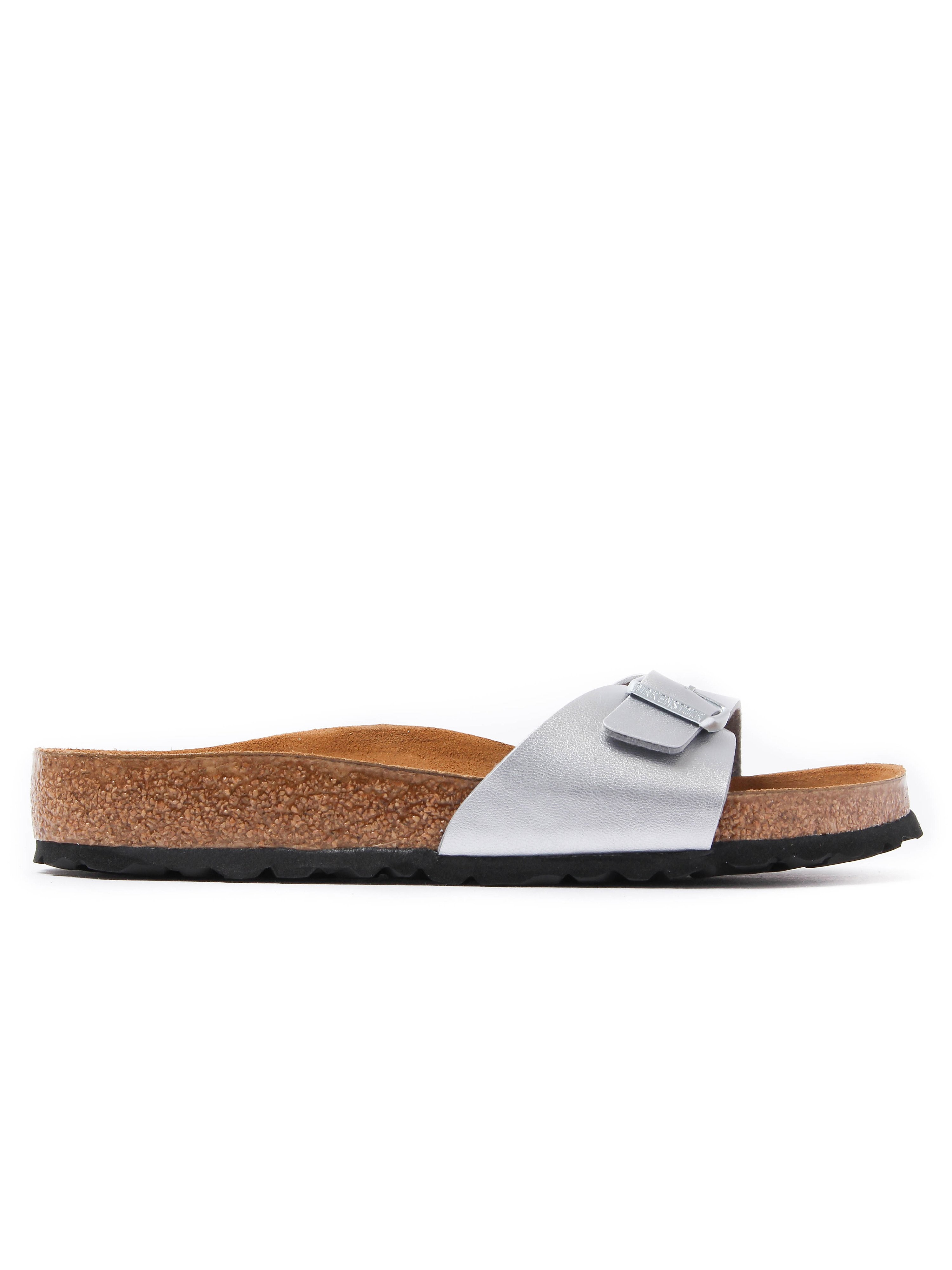 Birkenstock Women's Madrid Single Strap Sandals - Silver Leather
