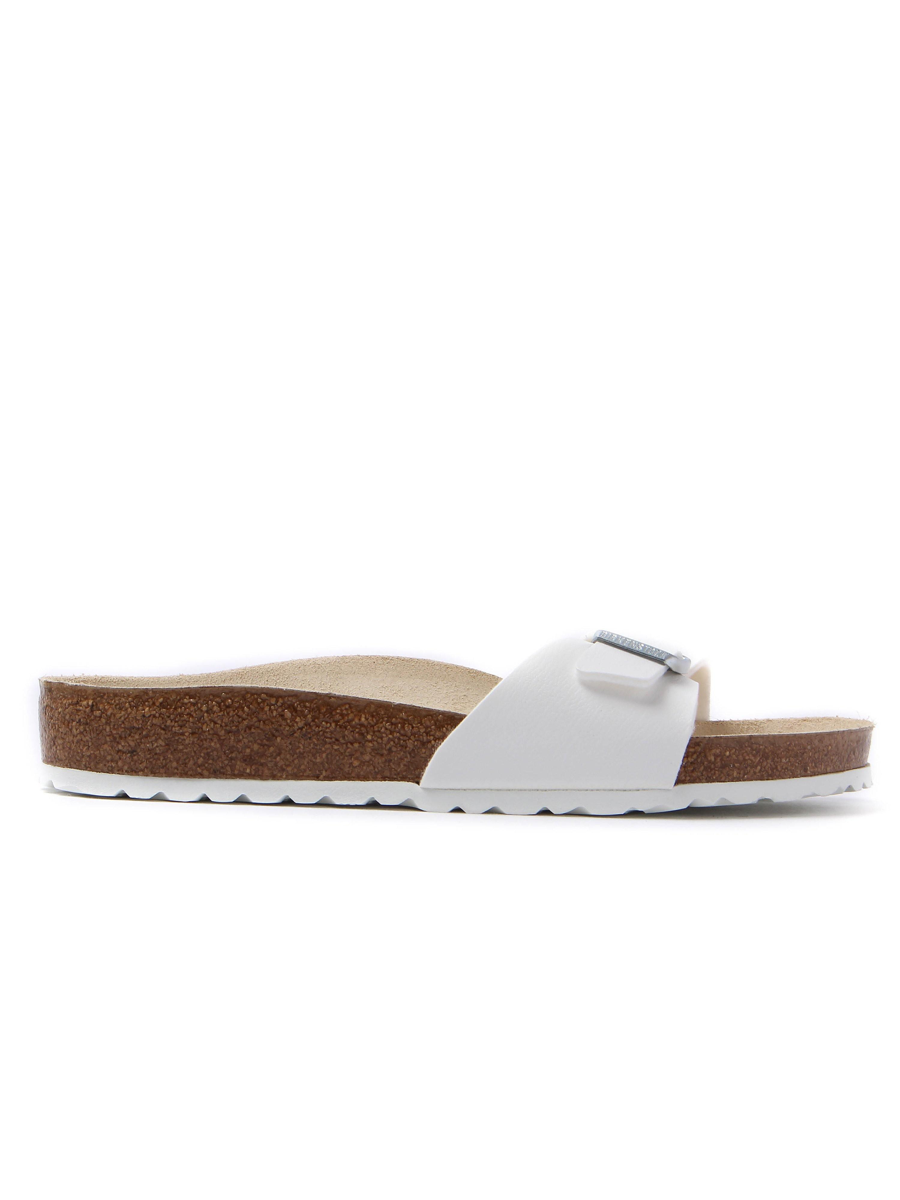 Birkenstock Women's Madrid Single Strap Sandals - White Leather
