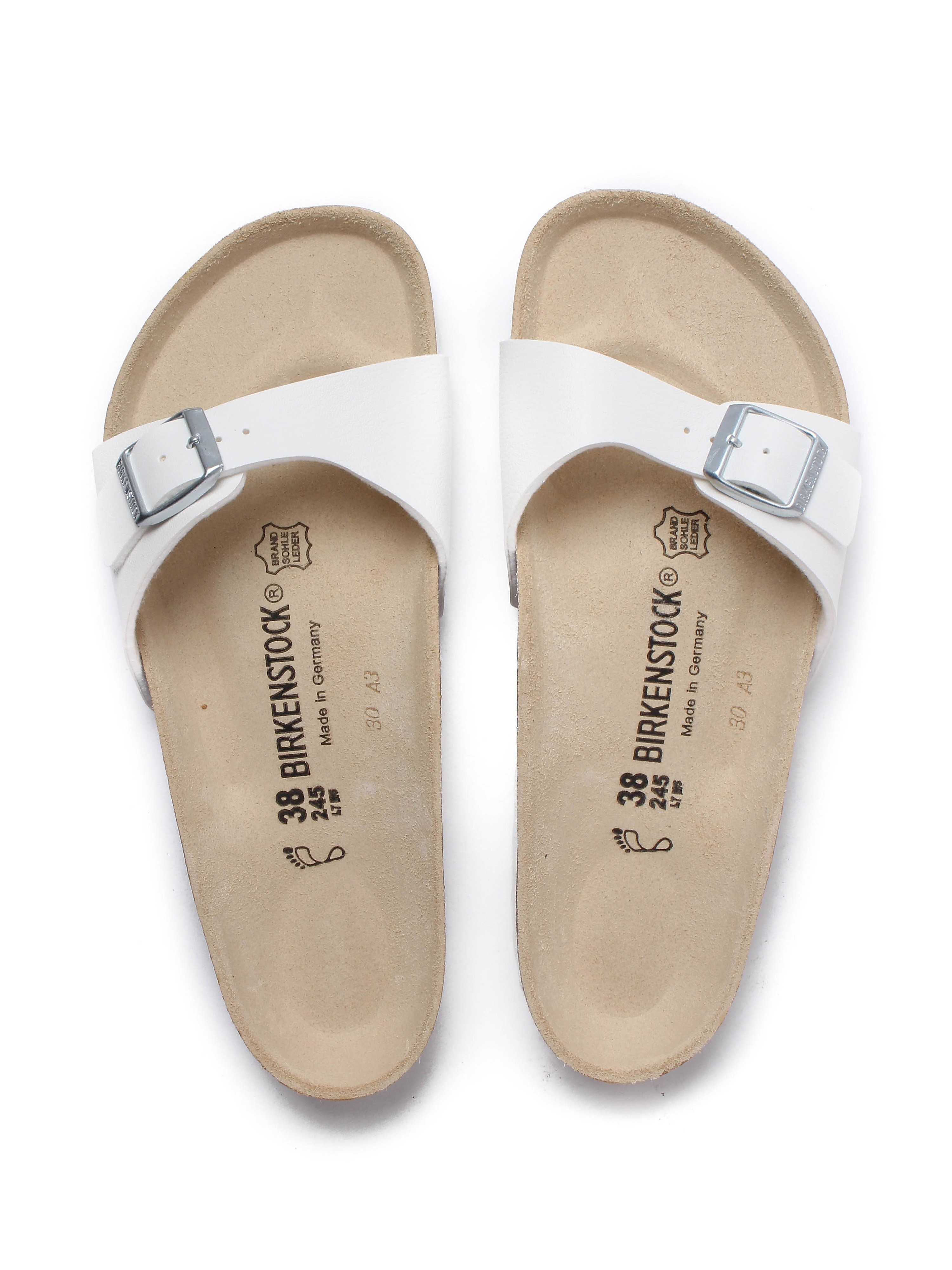 Birkenstock Women's Madrid Single Strap Sandals - White Leather