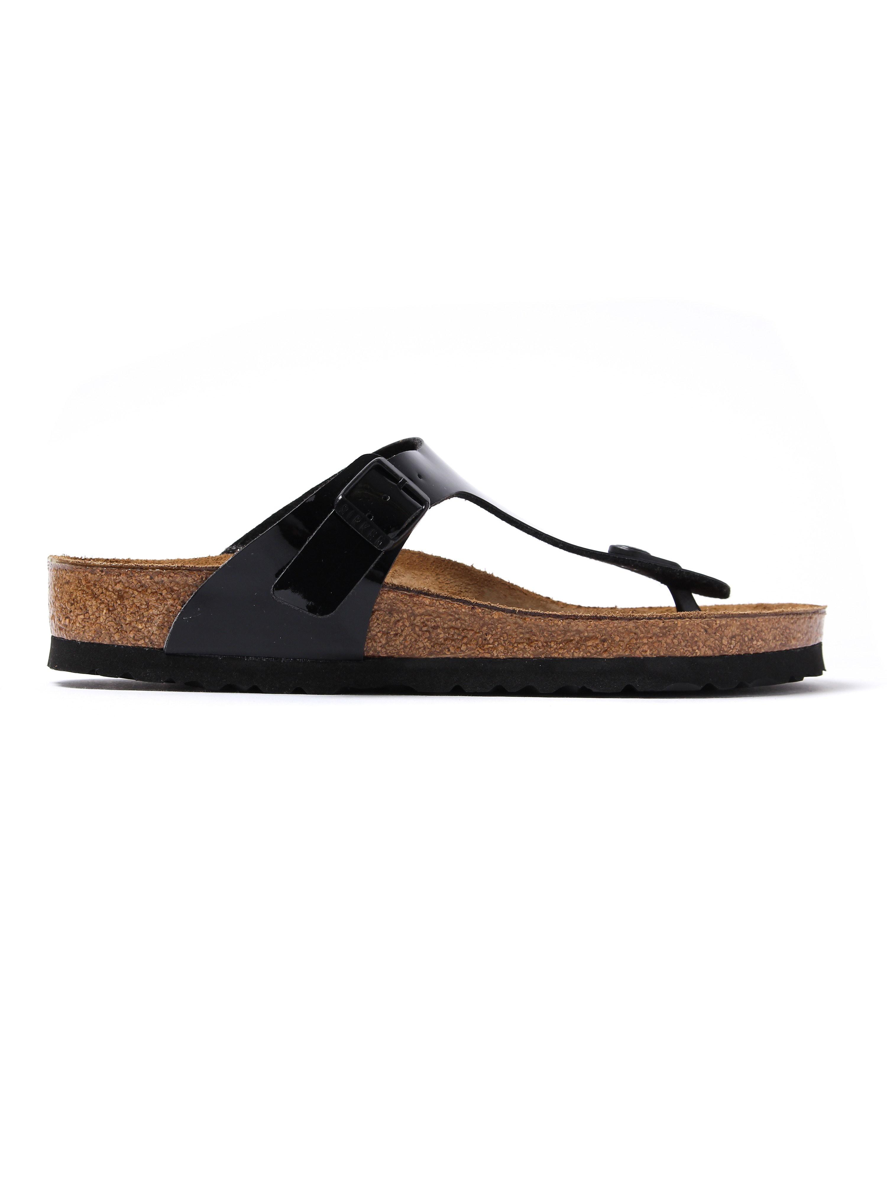 Birkenstock Women's Gizeh Toe Strap Sandals - Black Patent