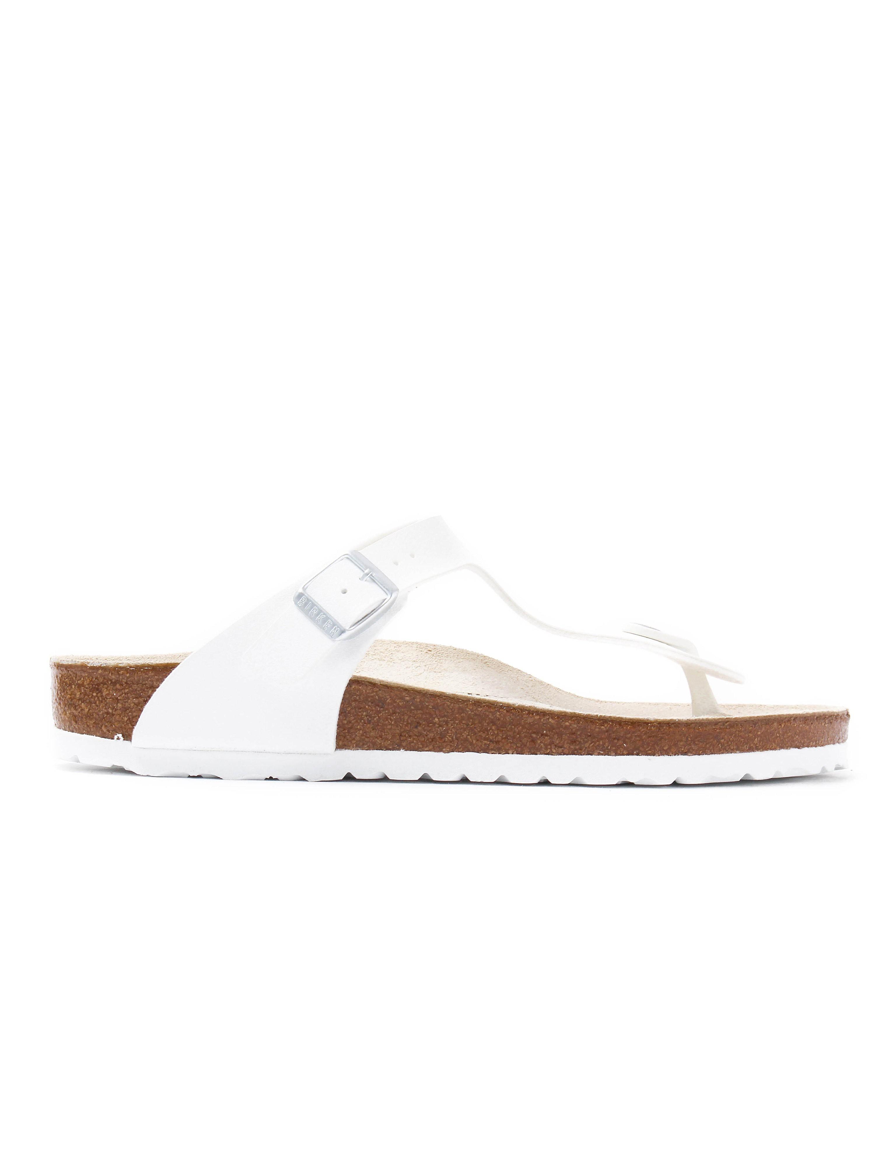 Birkenstock Women's Gizeh Toe Strap Sandals - White