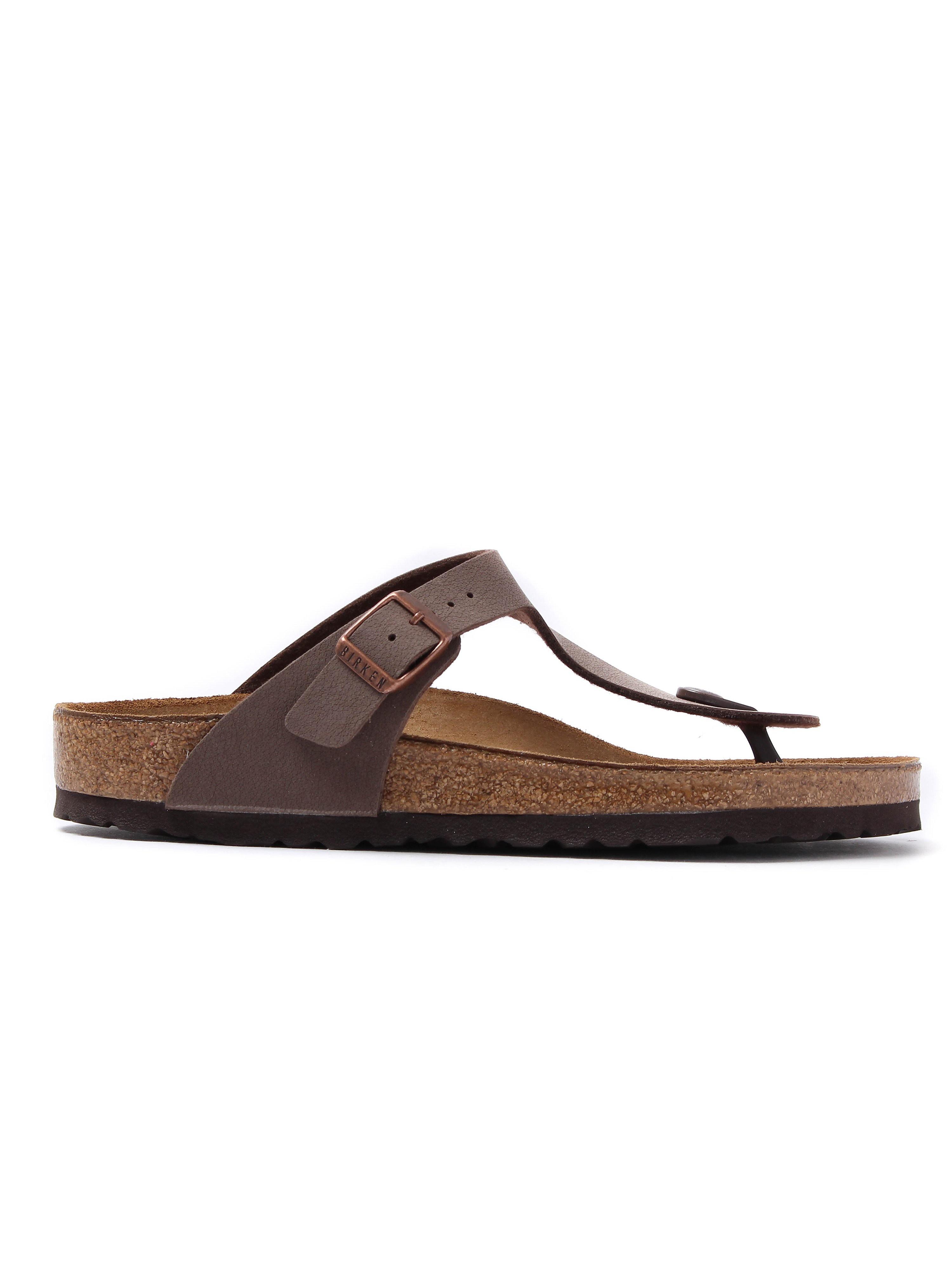 Birkenstock Women's Gizeh Toe Strap Birko-Flor Sandals - Mocca