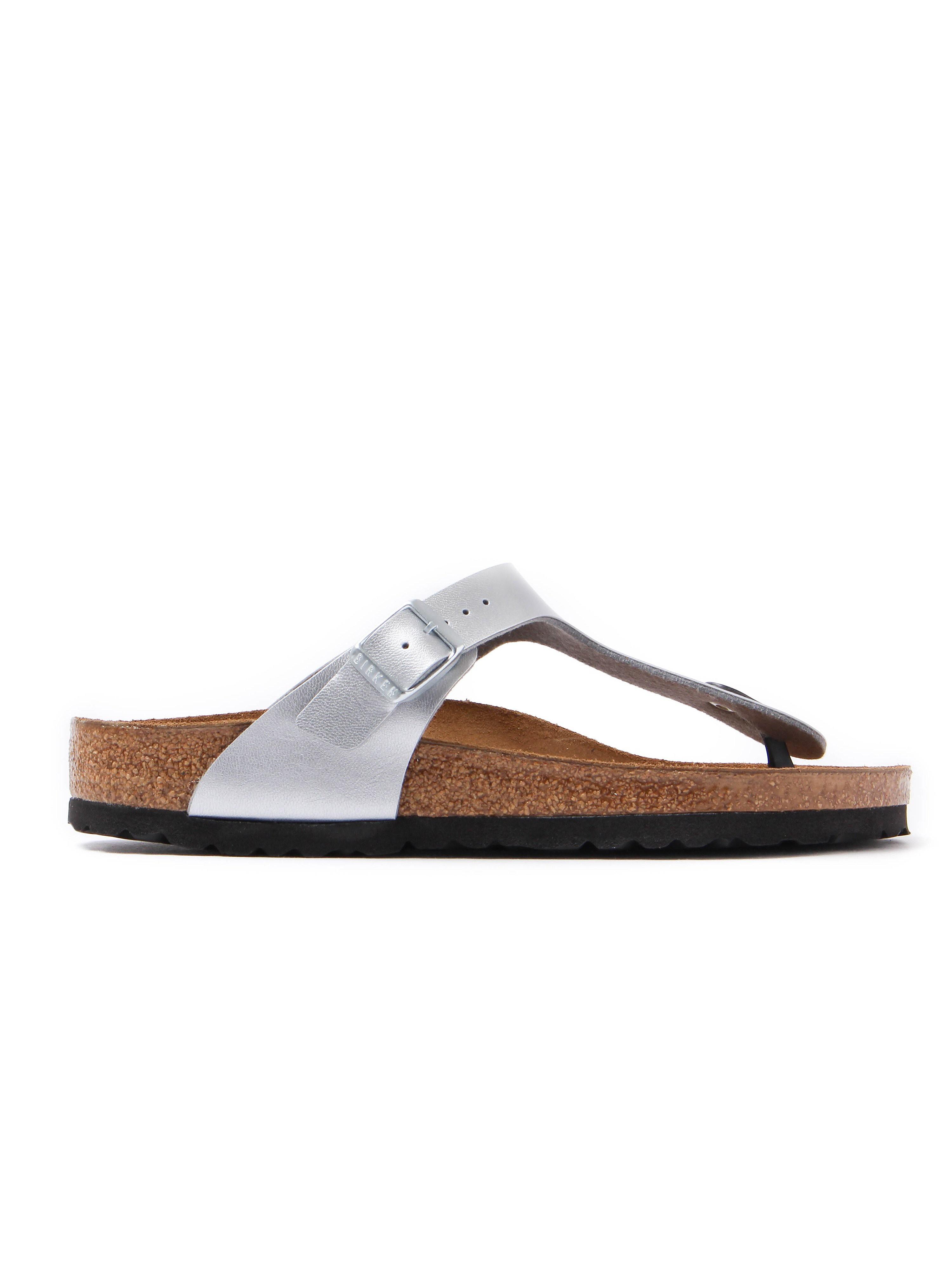 Birkenstock Women's Gizeh Toe Strap Birko-Flor Sandals - Silver