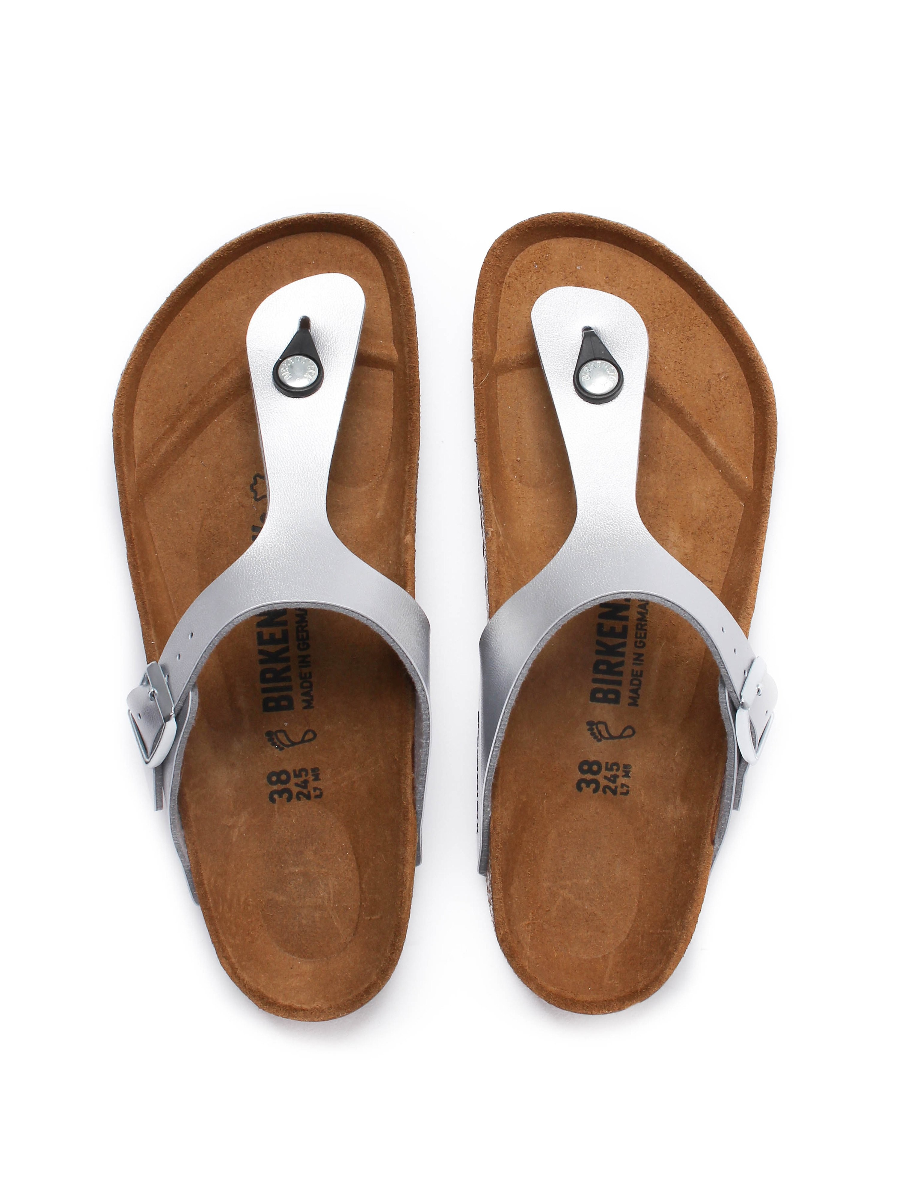 Birkenstock Women's Gizeh Toe Strap Sandals - Silver