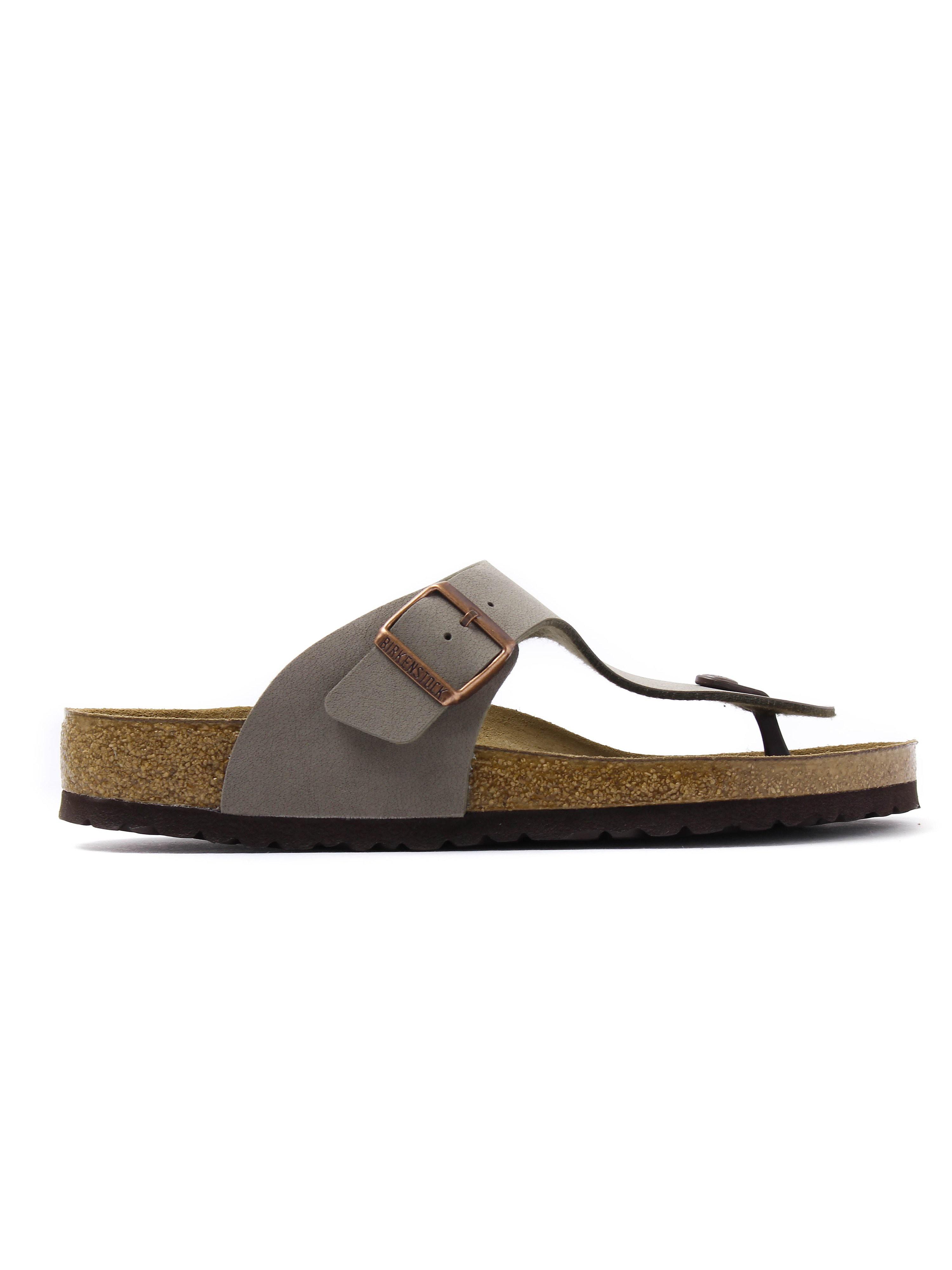 Birkenstock Men's Ramses Toe Strap Sandals - Stone