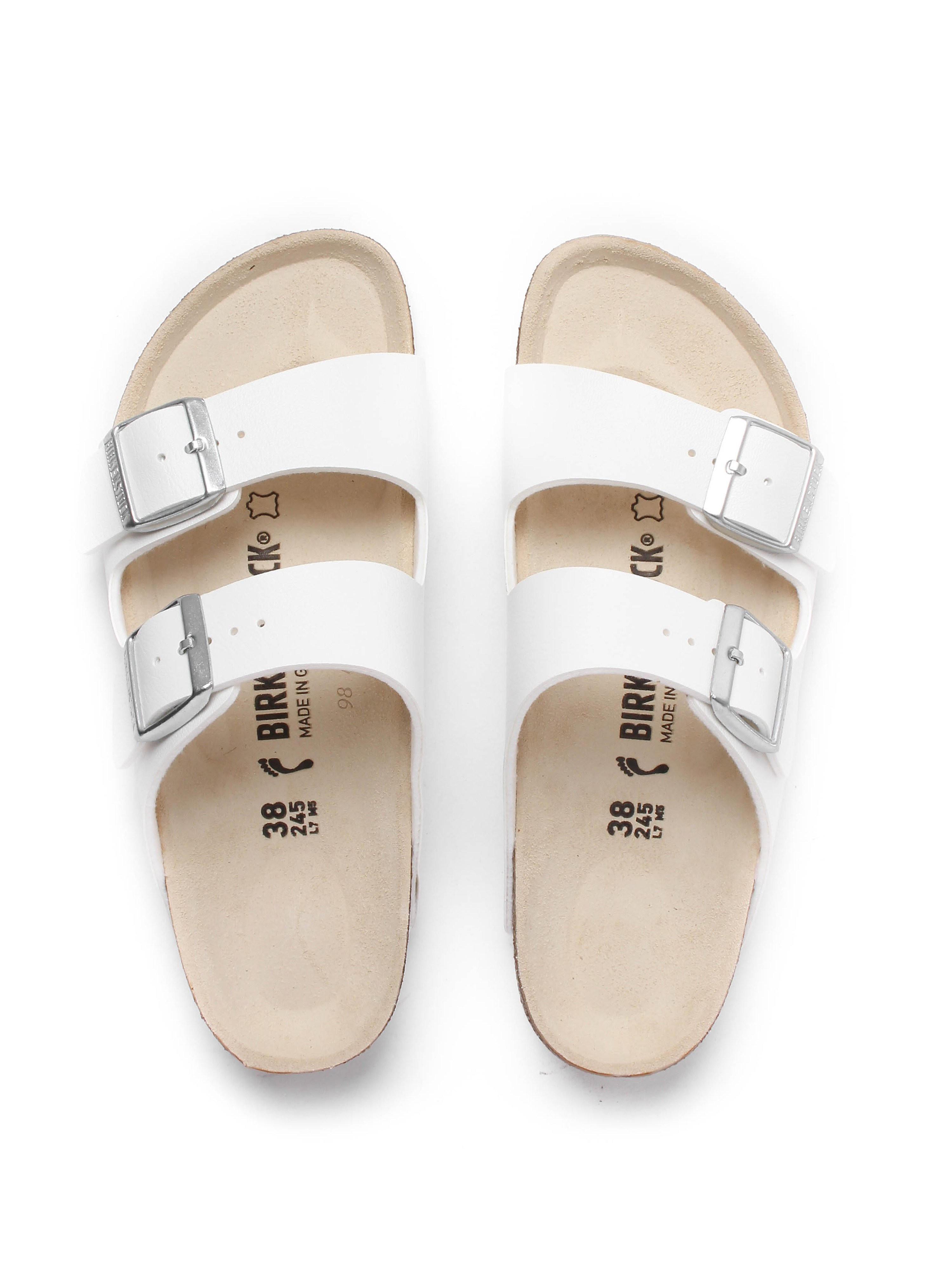 Birkenstock Women's Arizona Double Strap Narrow Fit Sandals - White