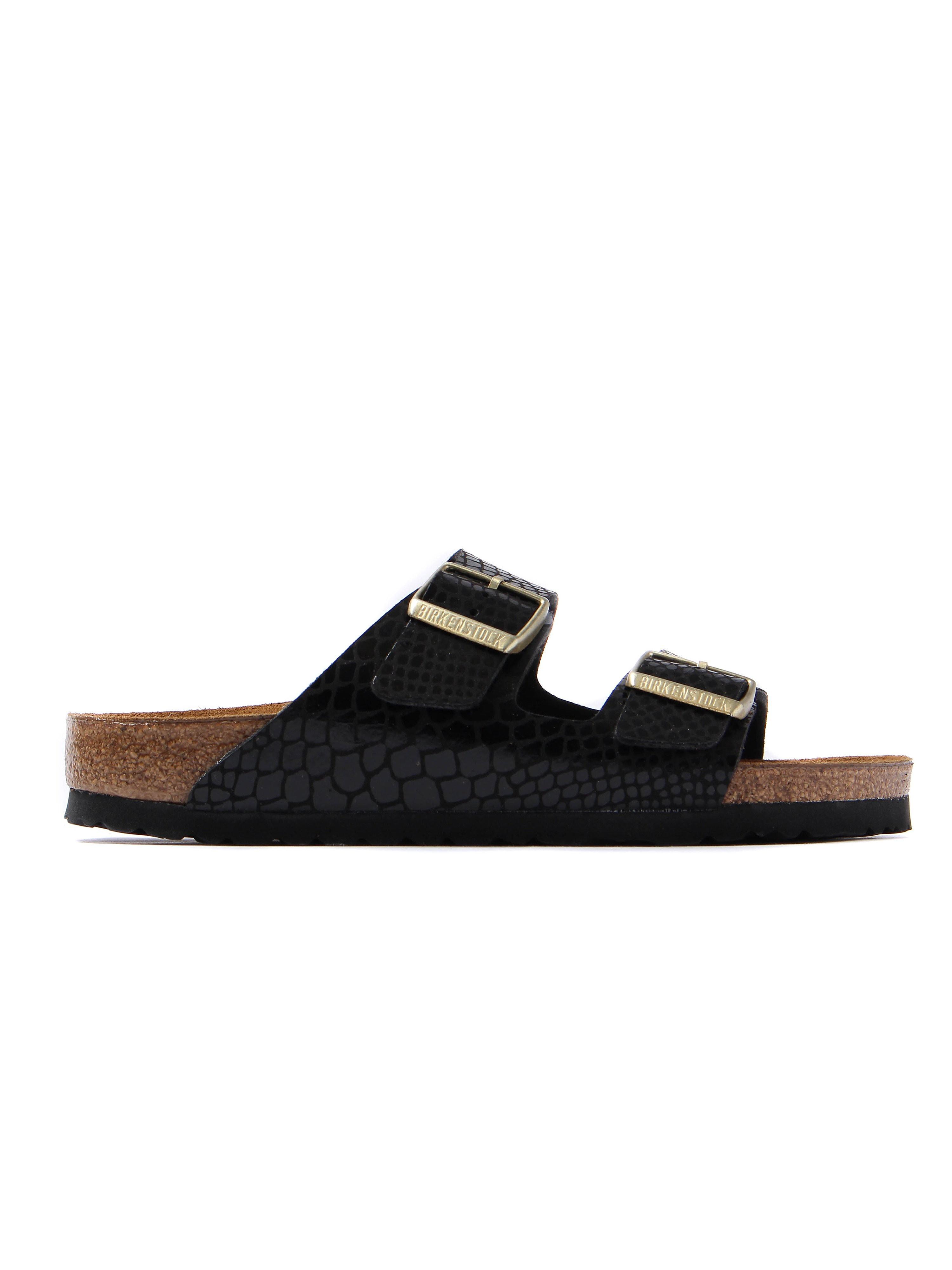 Birkenstock Women's Arizona Narrow Fit Sandals - Black Snakeskin