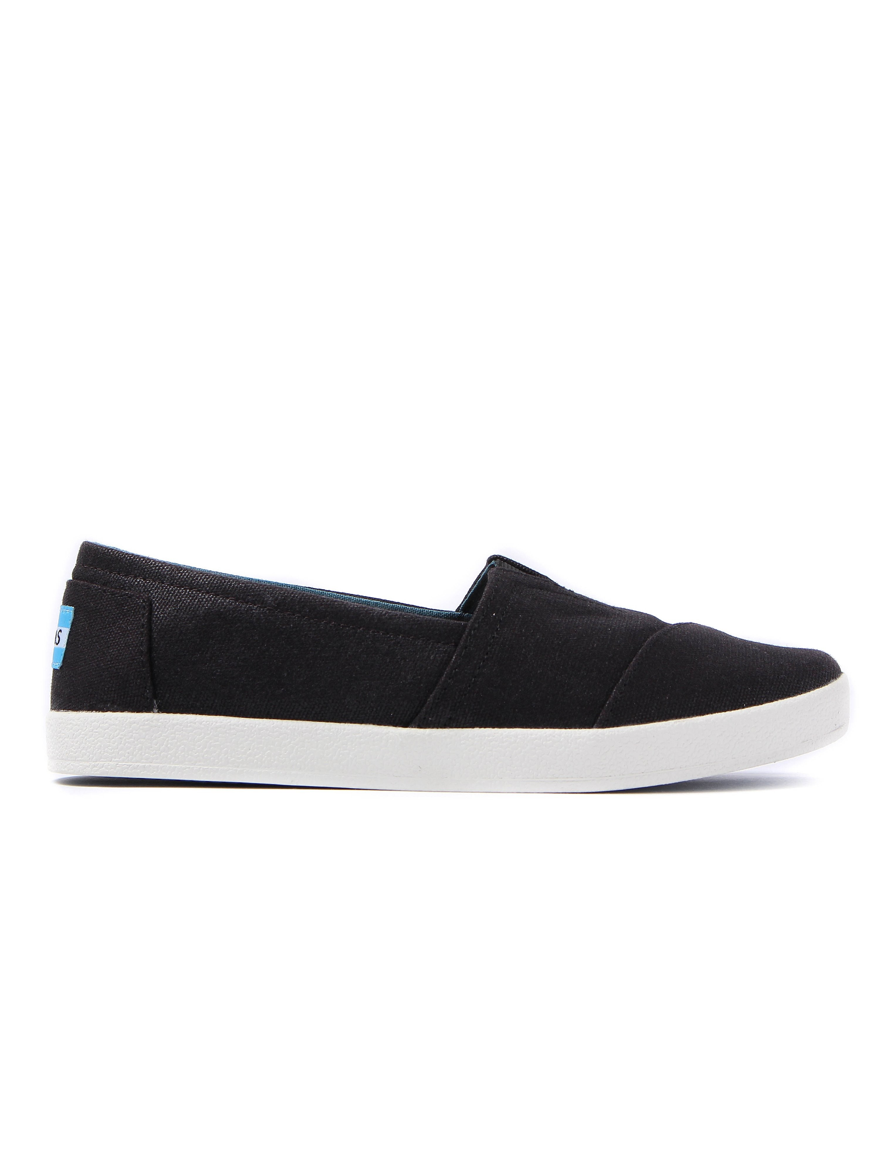 Toms Women's Avalon Coated Canvas Espadrilles - Black