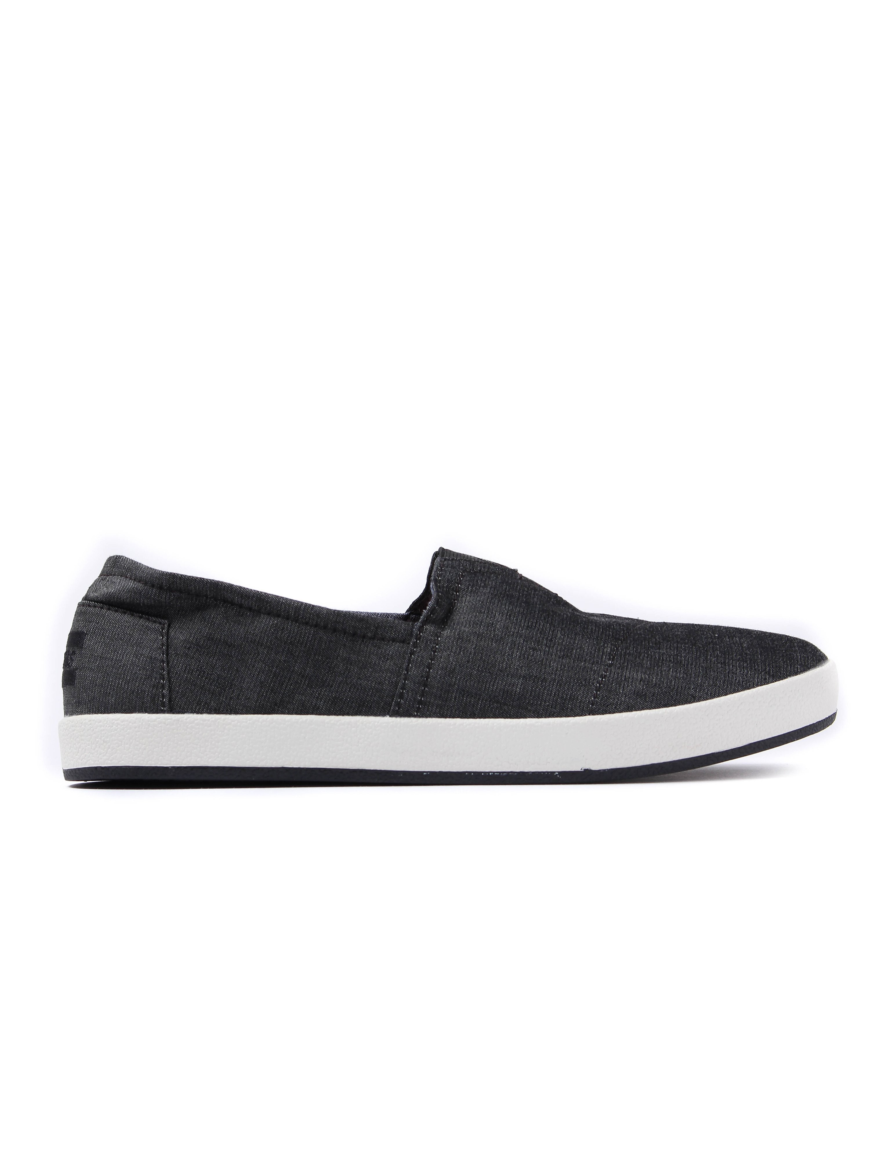 Toms Men's Avalon Chambray Canvas Espadrilles - Black