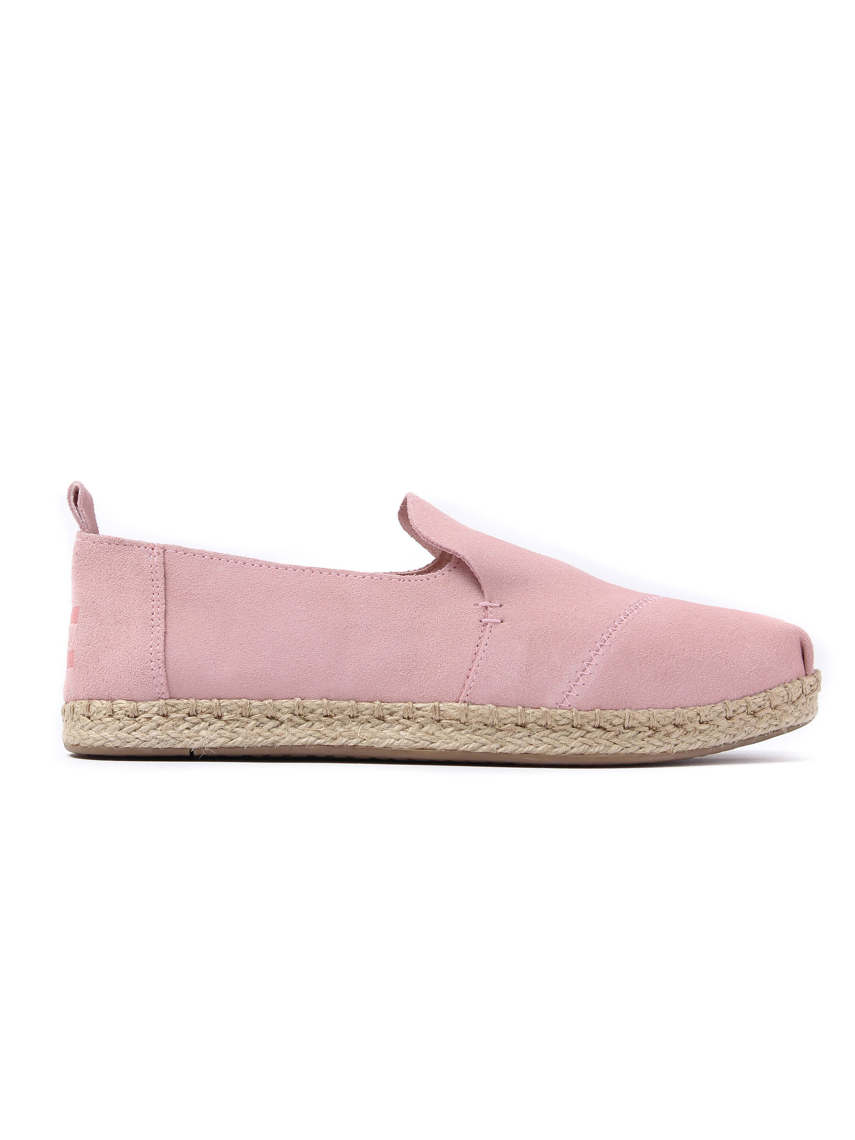 Toms Women's Deconstructed Alpargata Suede Slip On Espadrilles - Pale Pink