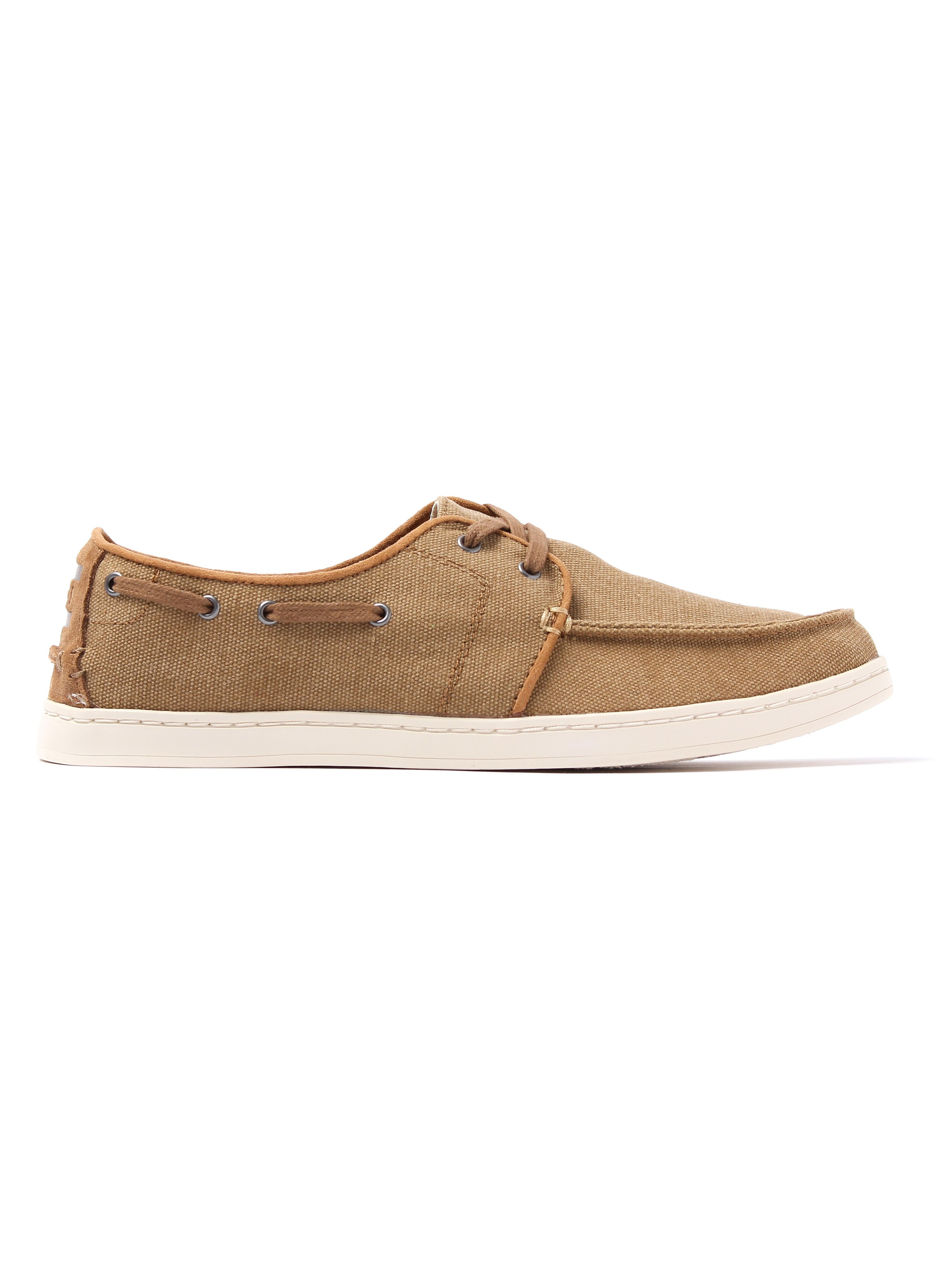 Toms Men's Culver Washed Canvas Boat Shoes - Toffee