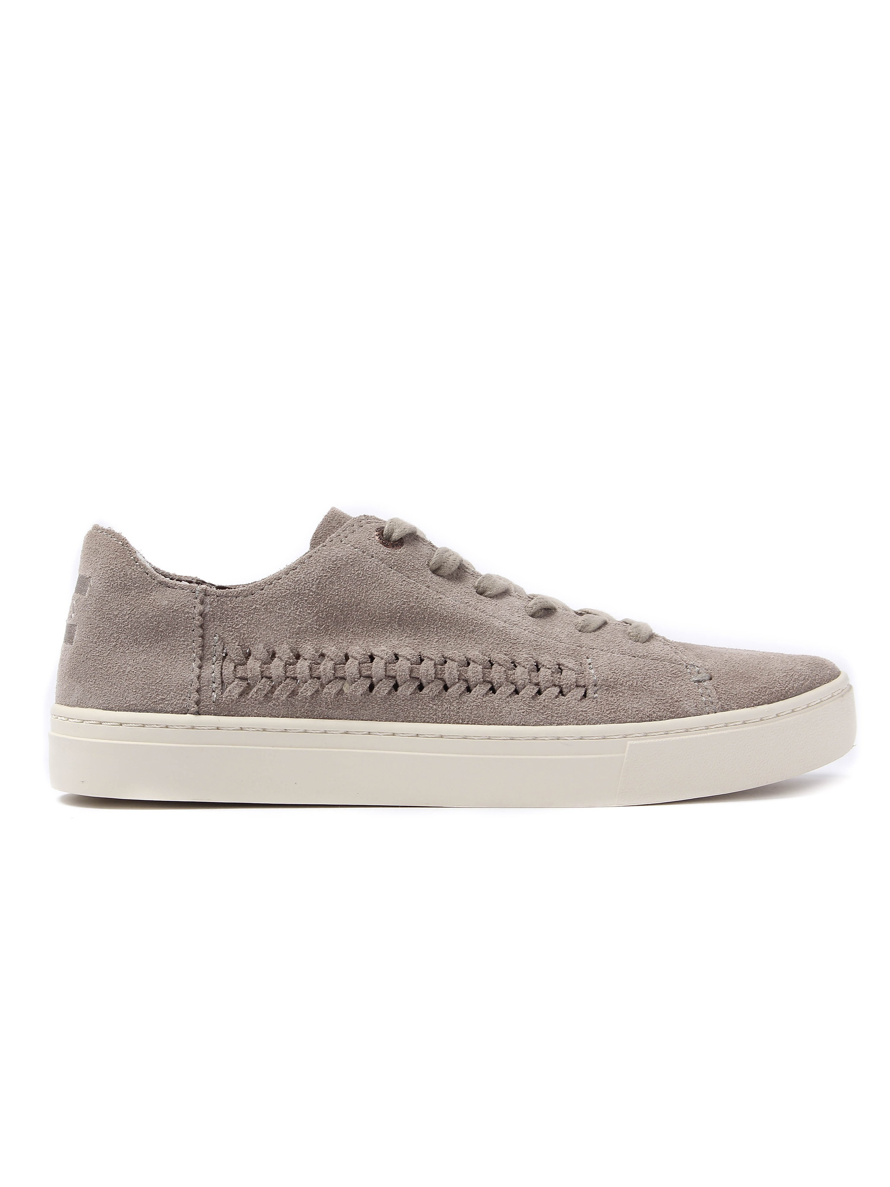Toms Women's Lenox Deconstructed Suede & Woven Detail Trainers - Desert Taupe