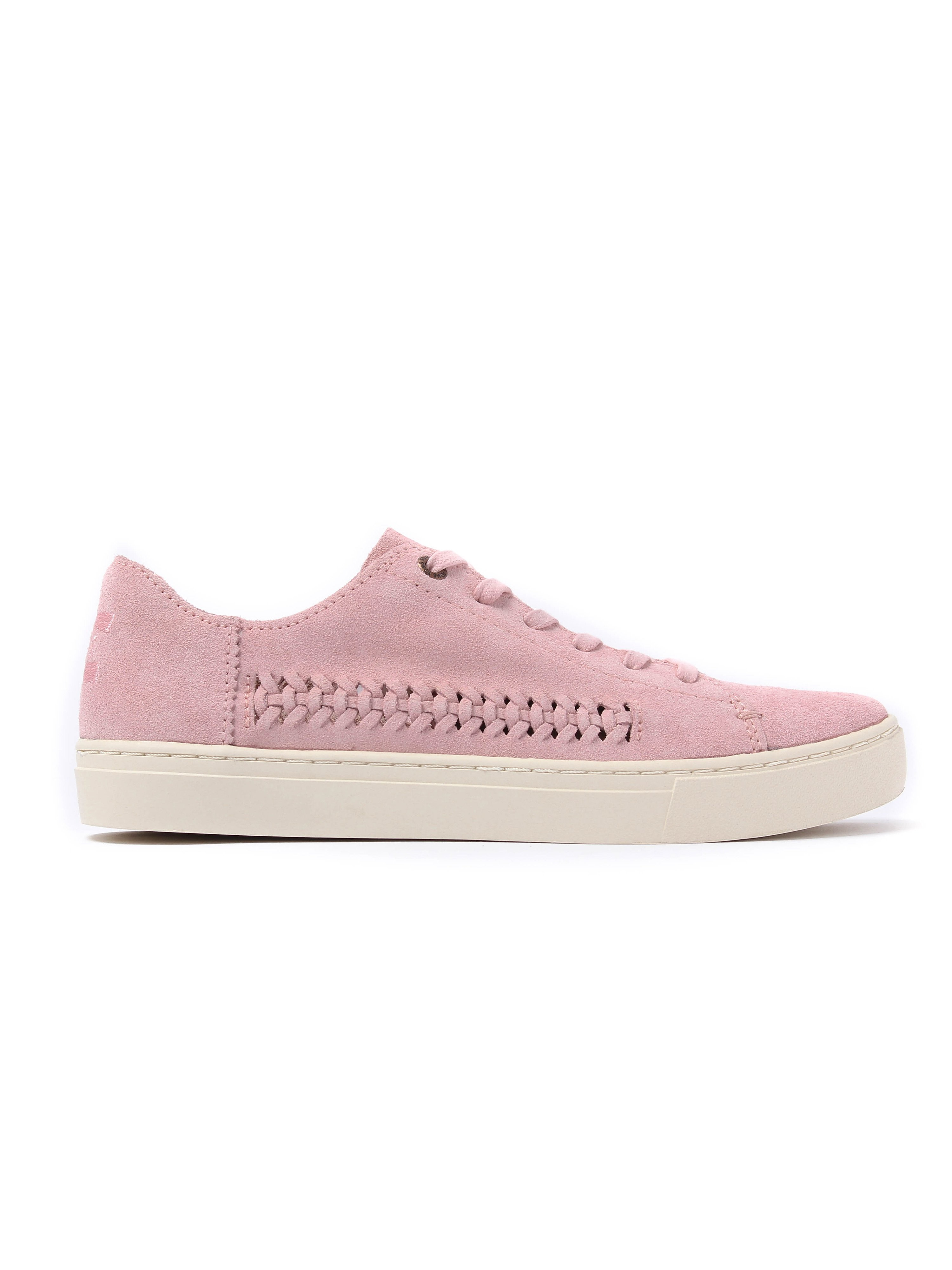 Toms Women's Lenox Deconstructed Suede & Woven Detail Trainers - Pale Pink