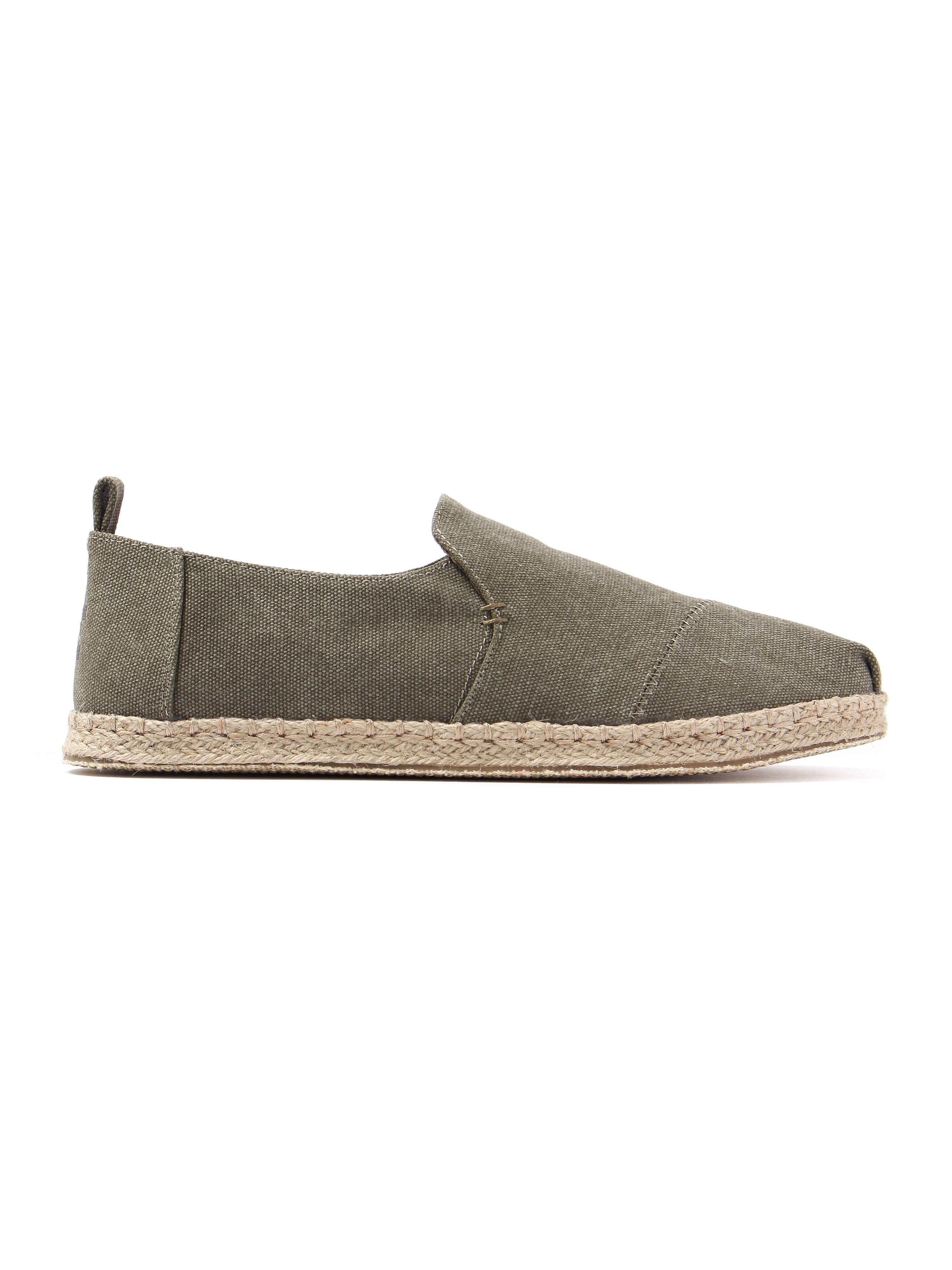 Toms Men's Deconstructed Alpargata Slub Chambray Rope Sole Espadrilles - Olive