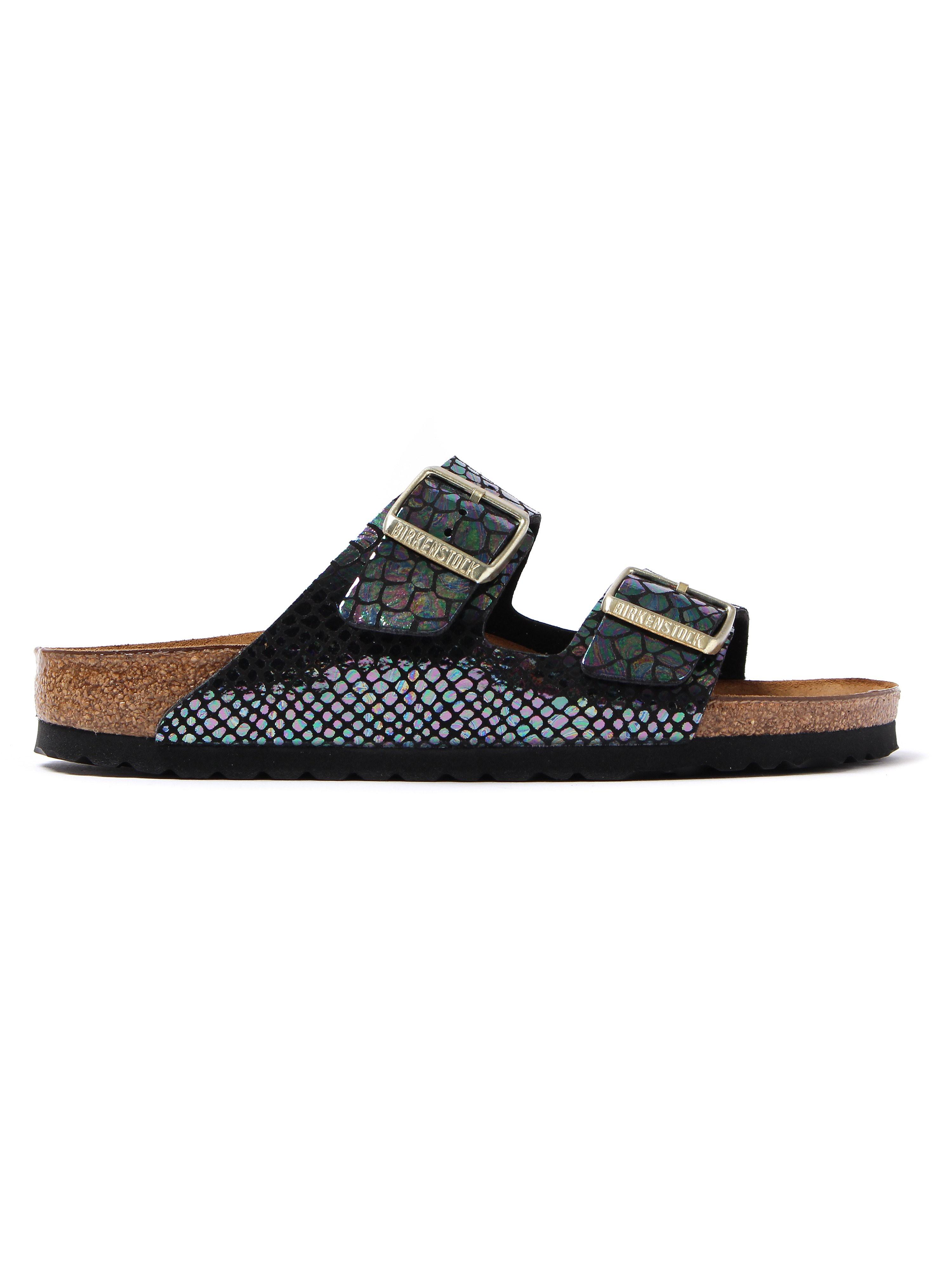 Birkenstock Women's Arizona Narrow Fit Sandals - Multicolour Snakeskin