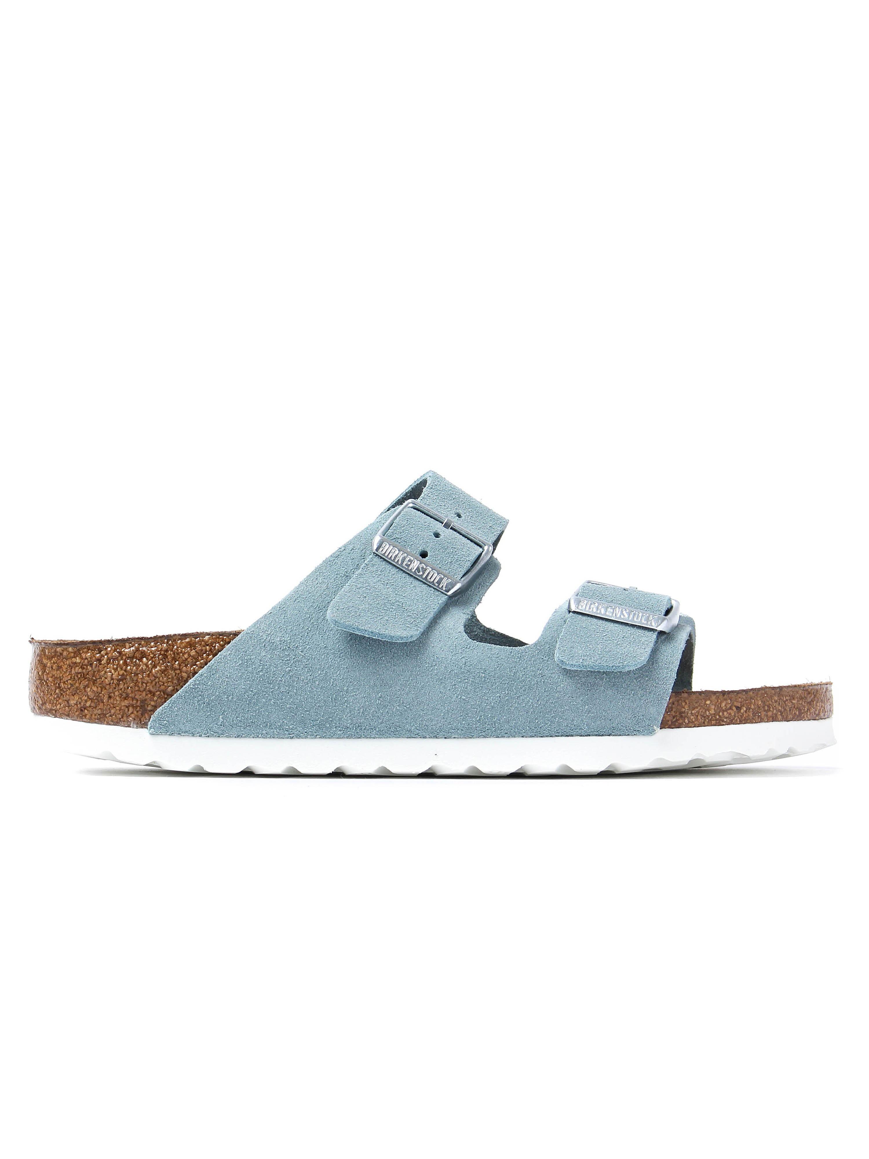 Birkenstock Women's Arizona Narrow Fit Sandals - Light Blue Suede