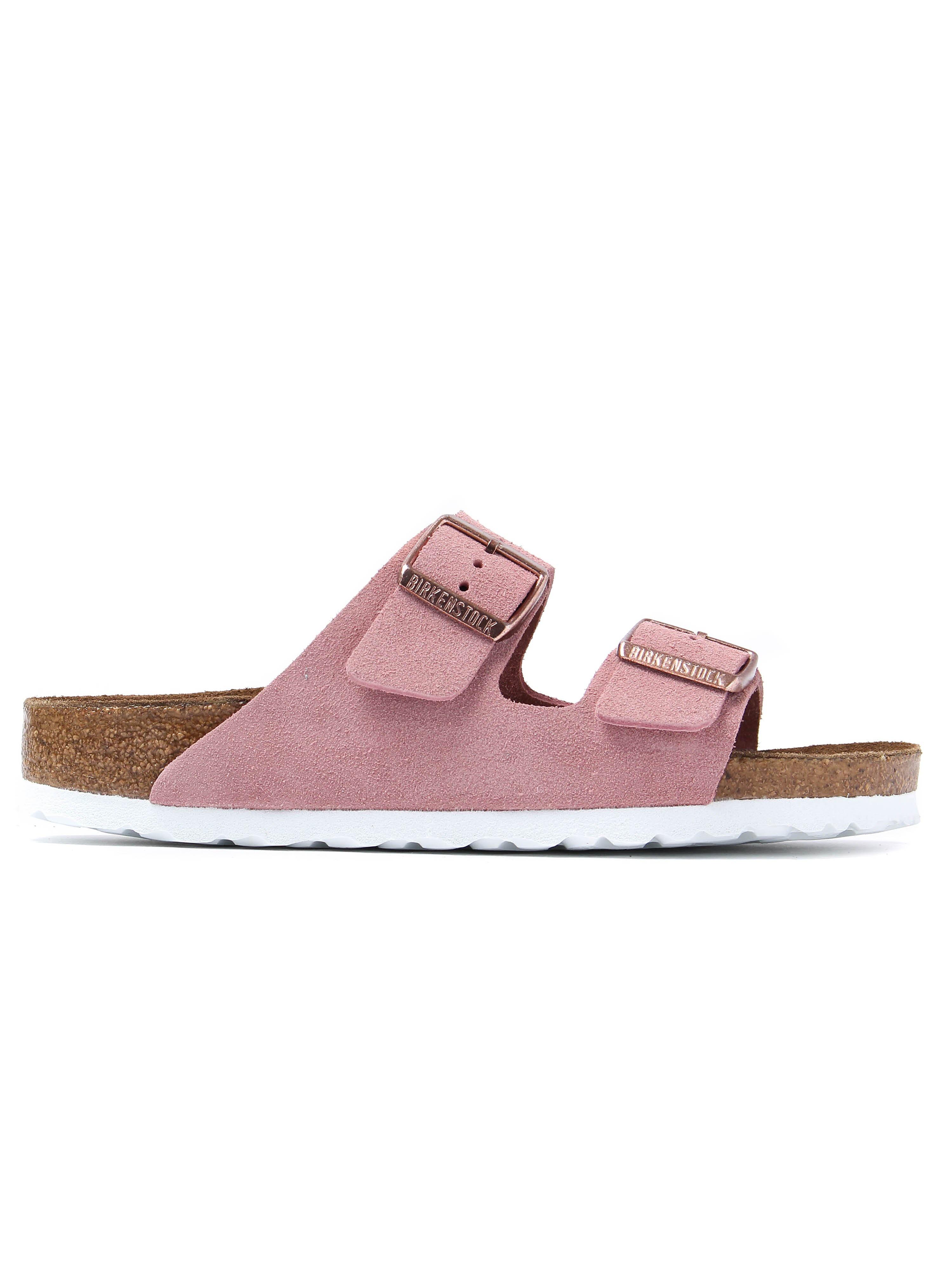 Birkenstock Women's Arizona Narrow Fit Sandals - Rose Suede