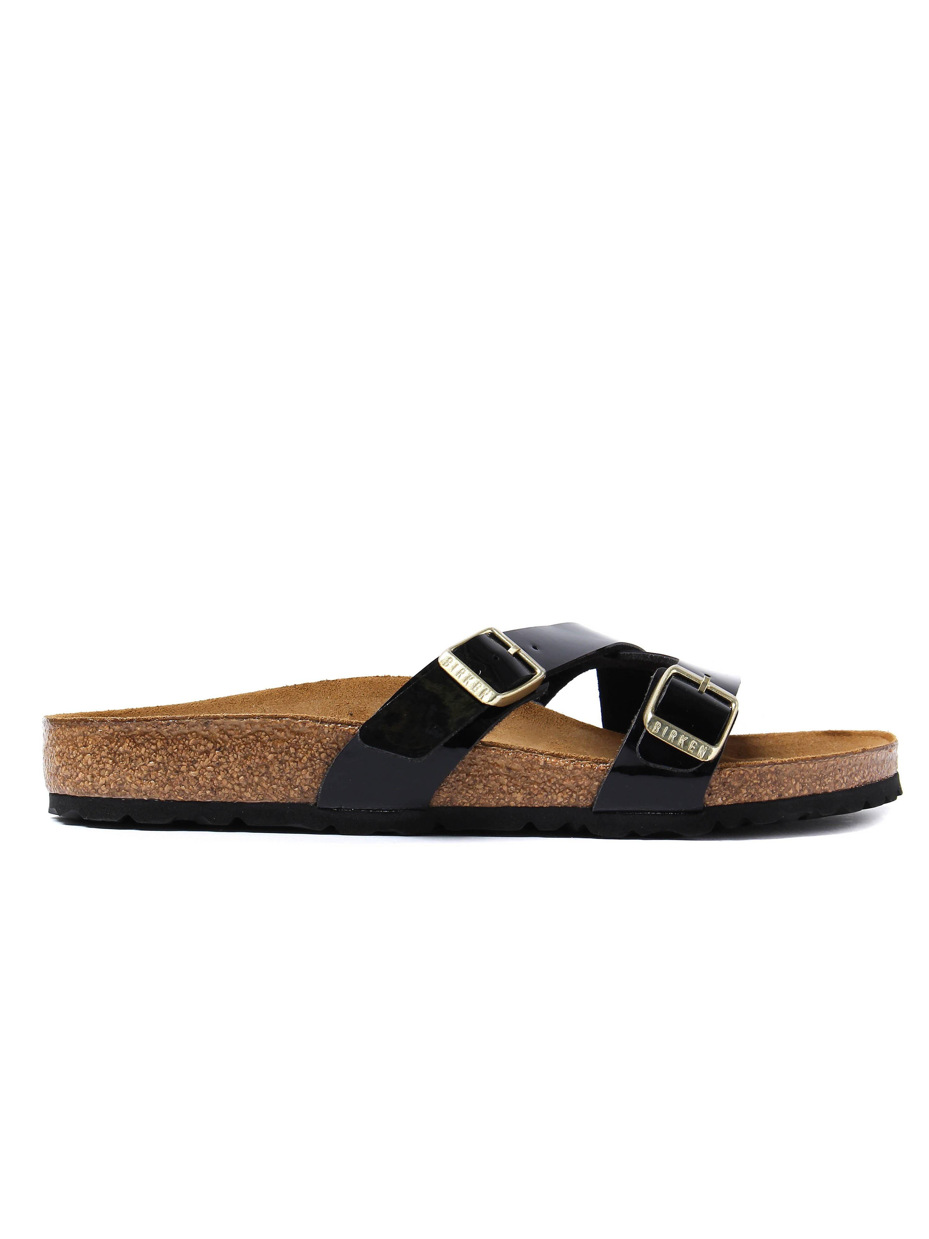 Birkenstock Women's Yao Balance Regular Fit Sandals - Black Patent Leather