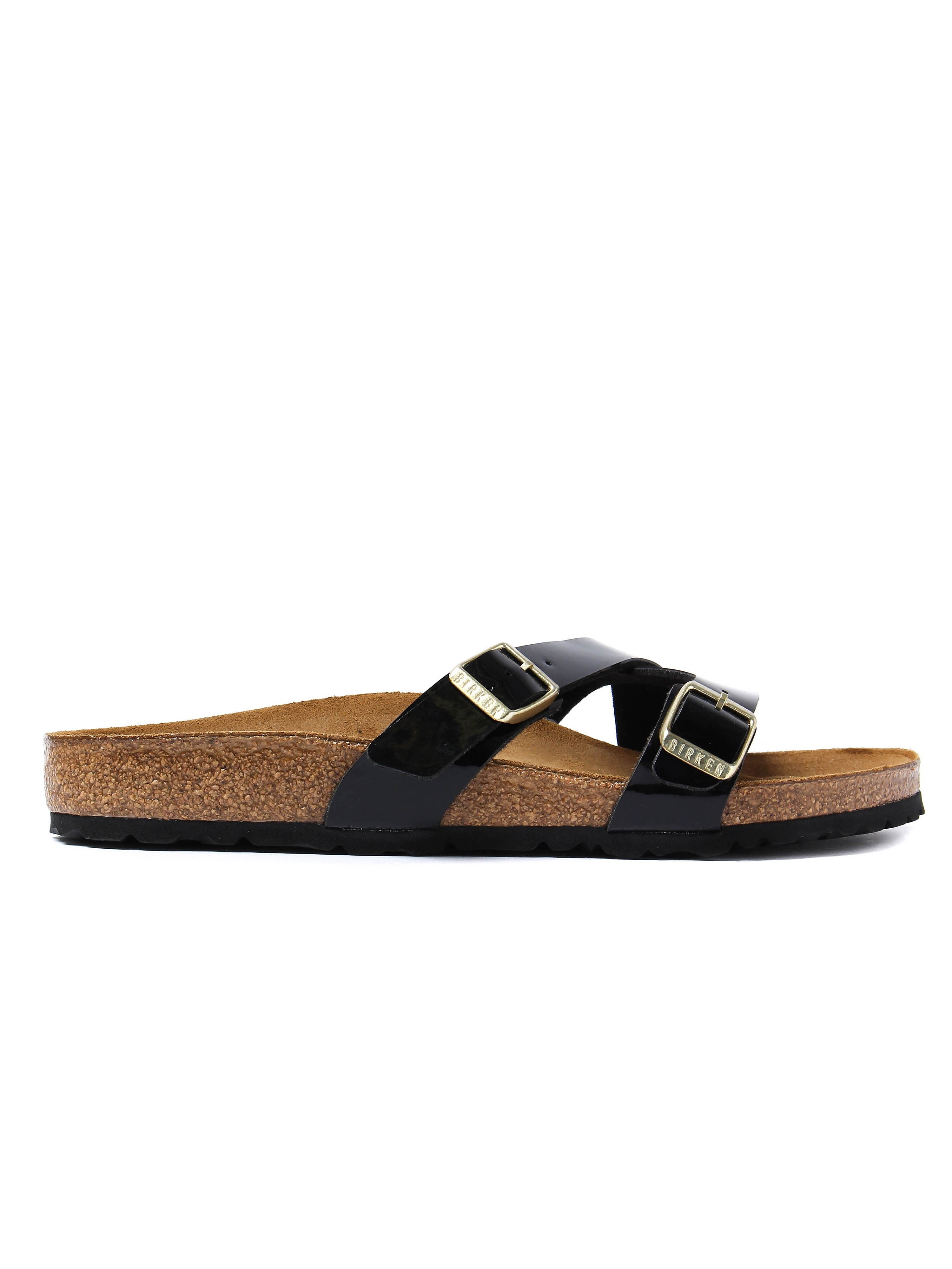Birkenstock Women's Yao Balance Regular Fit Sandals - Black Patent Leather