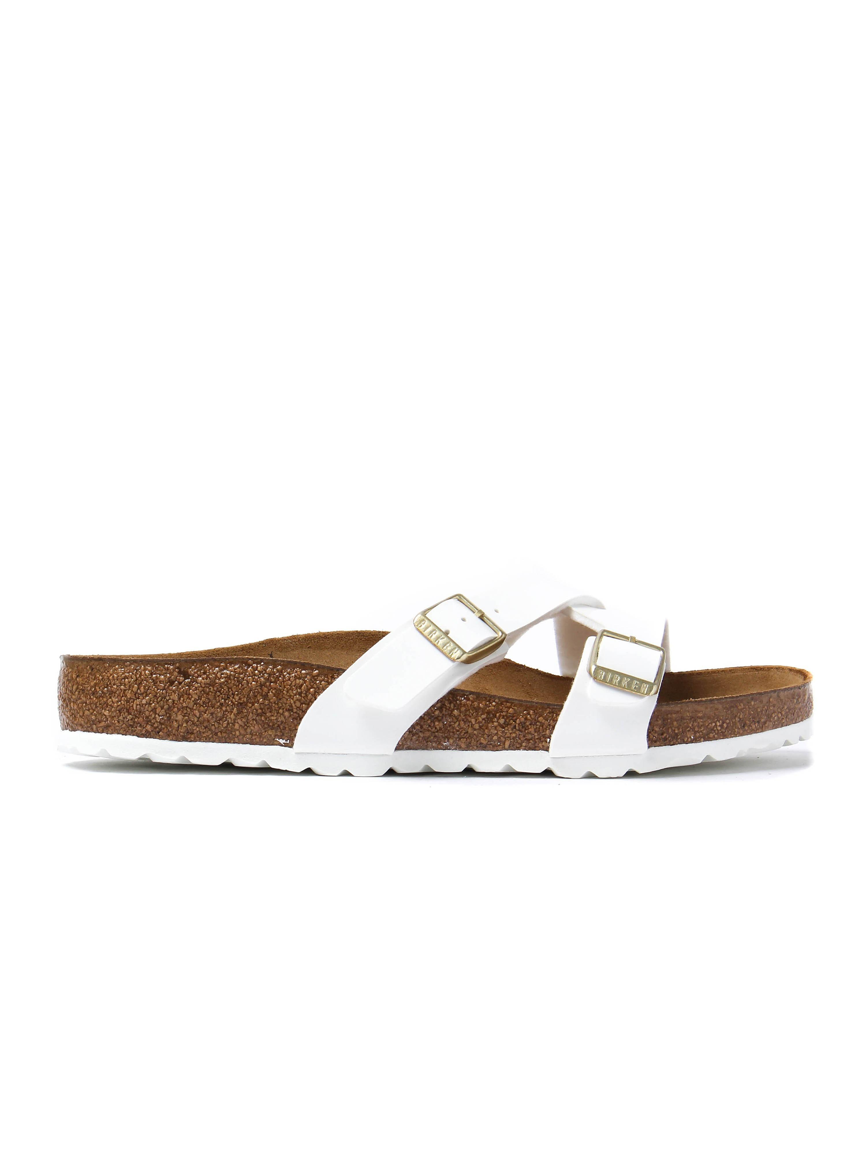 Birkenstock Women's Yao Balance Regular Fit Sandals - White Patent Leather
