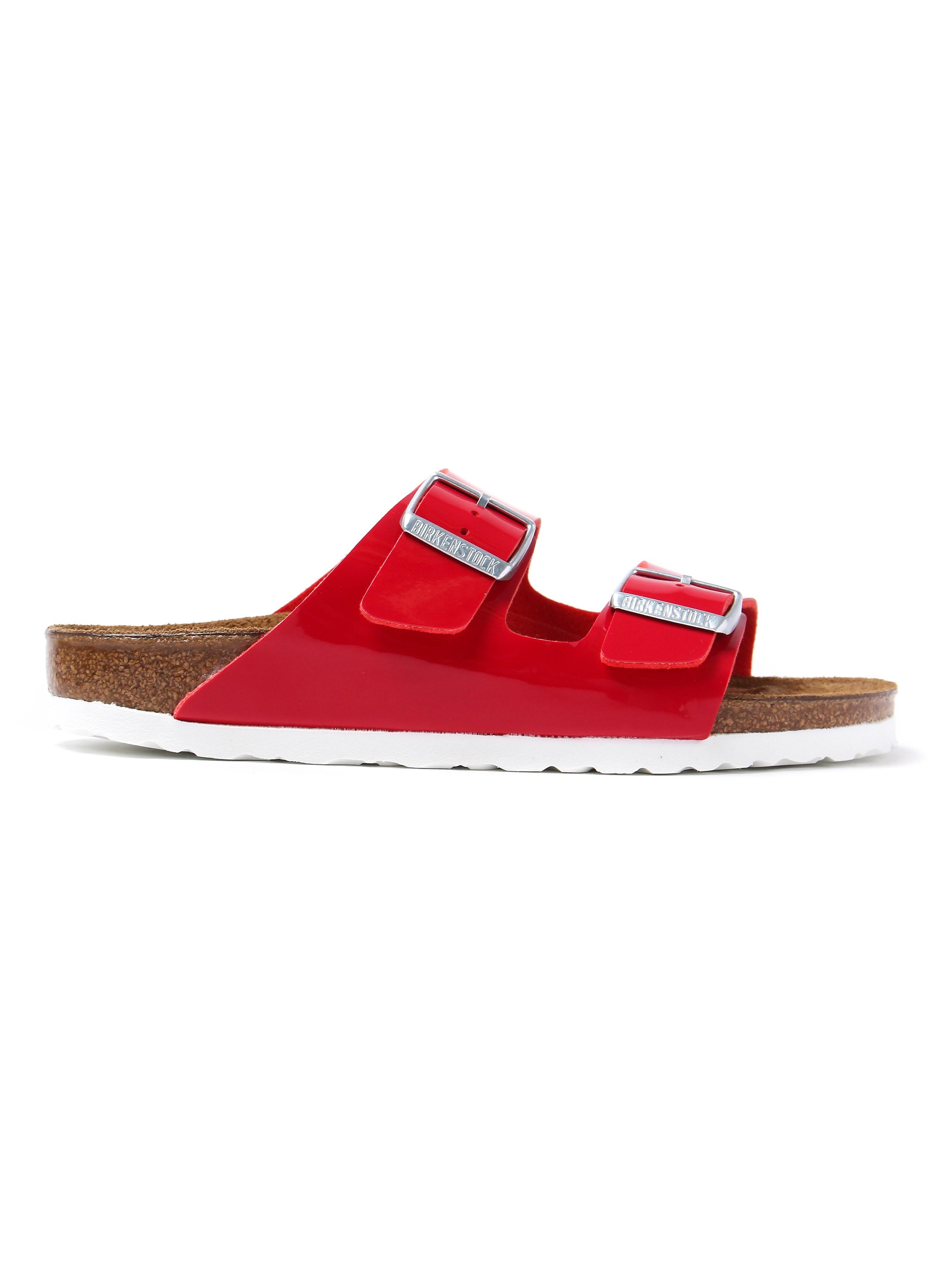 Birkenstock Women's Arizona Narrow Fit Sandals - Tango Red Patent Leather