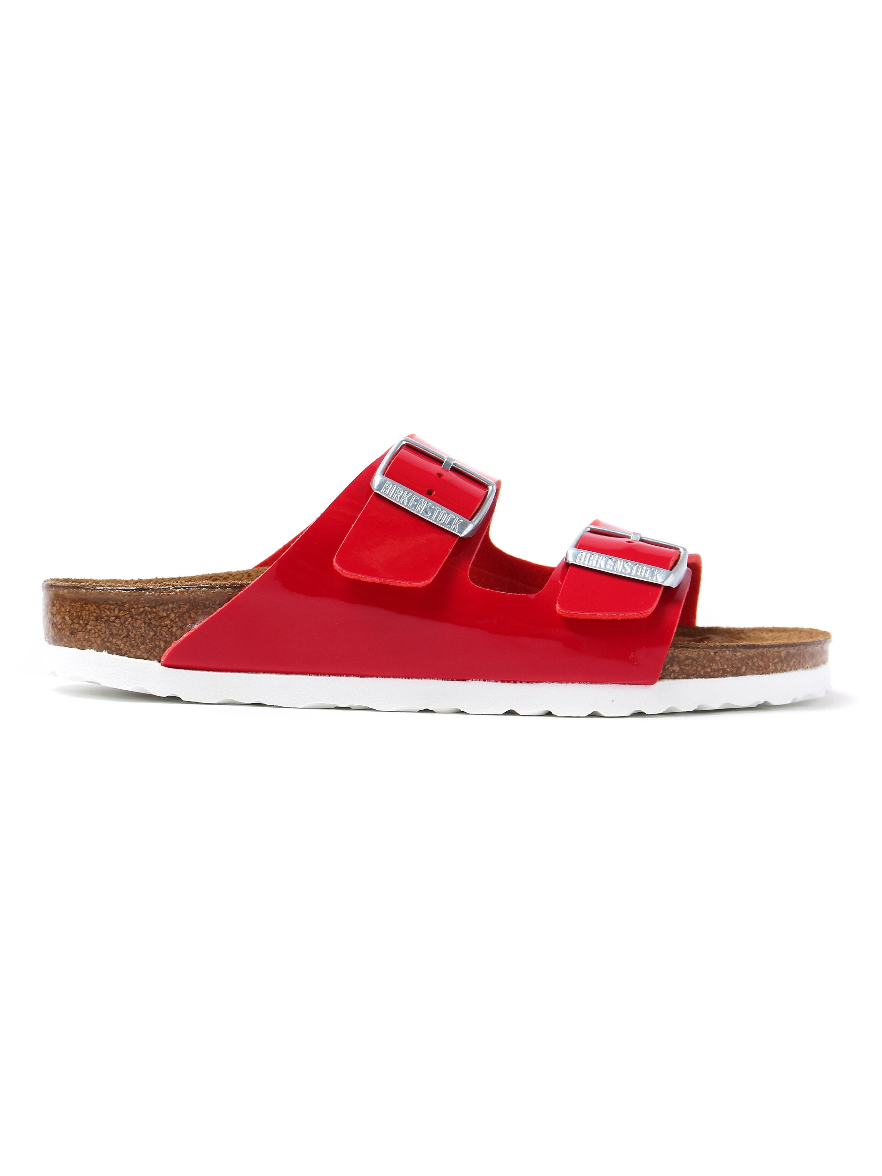 Birkenstock Women's Arizona Narrow Fit Sandals - Tango Red Patent Leather