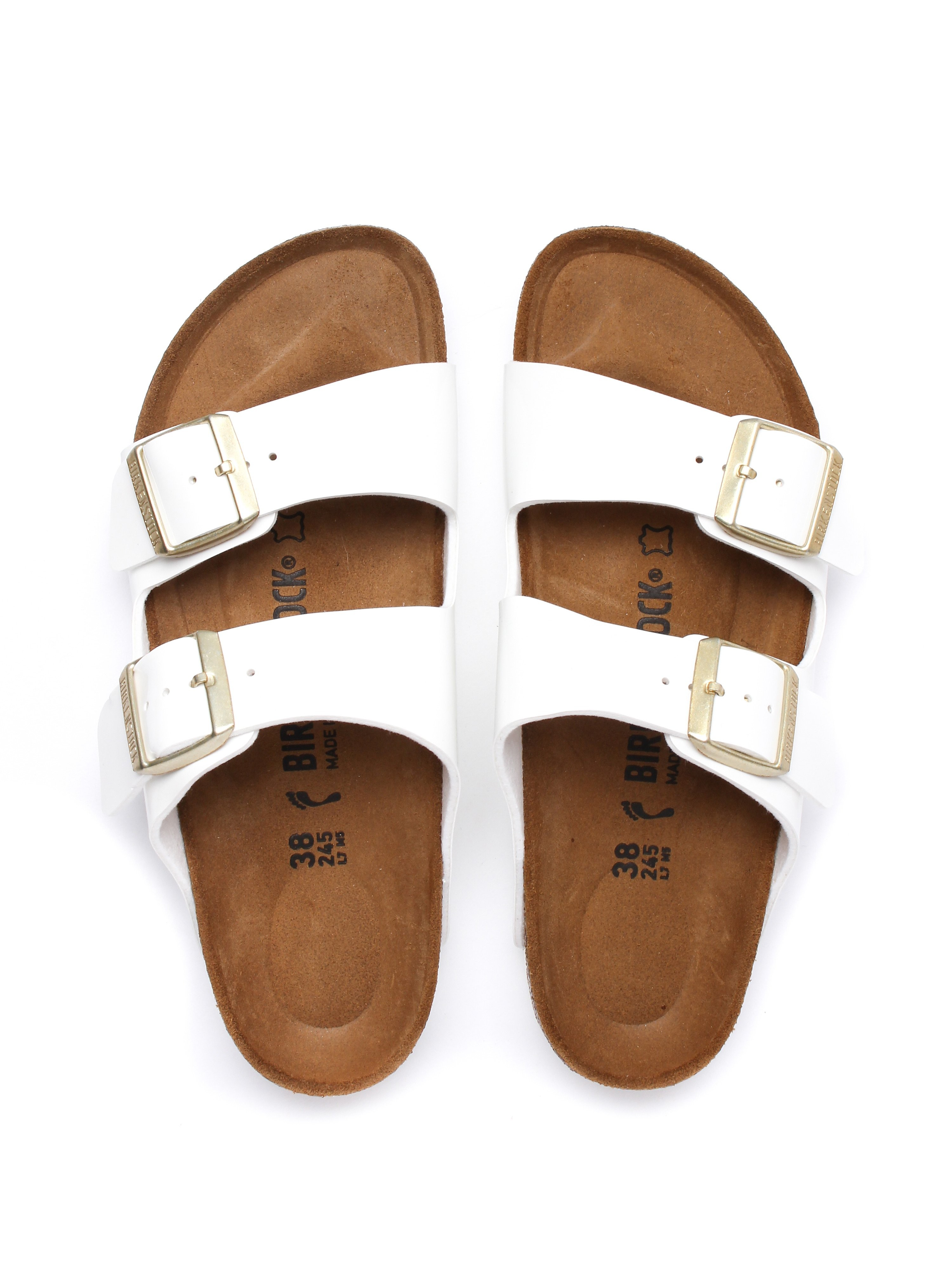 Birkenstock Women's Arizona Narrow Fit Sandals - White Patent