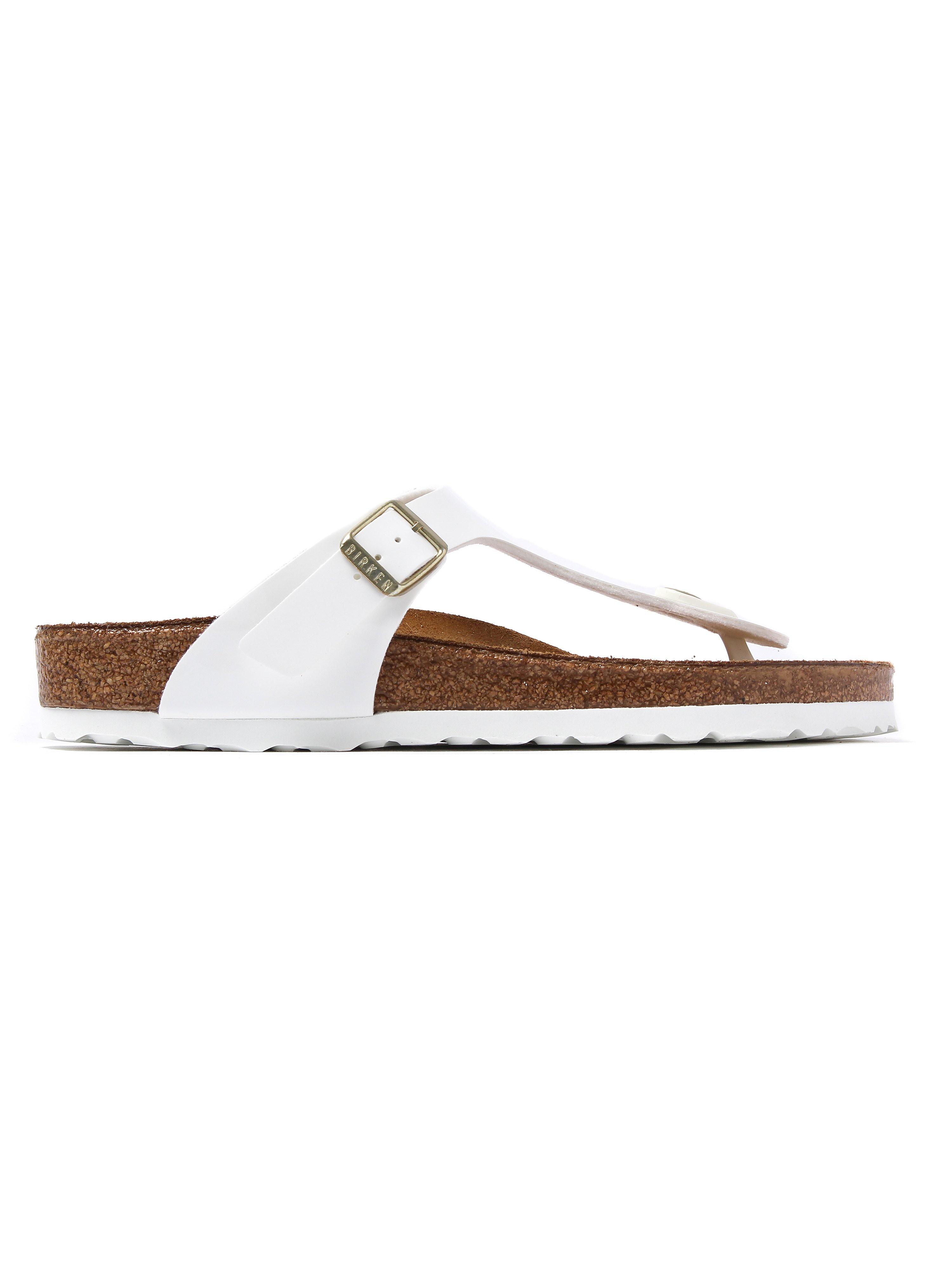Birkenstock Women's Gizeh Regular Fit Sandals - White Patent