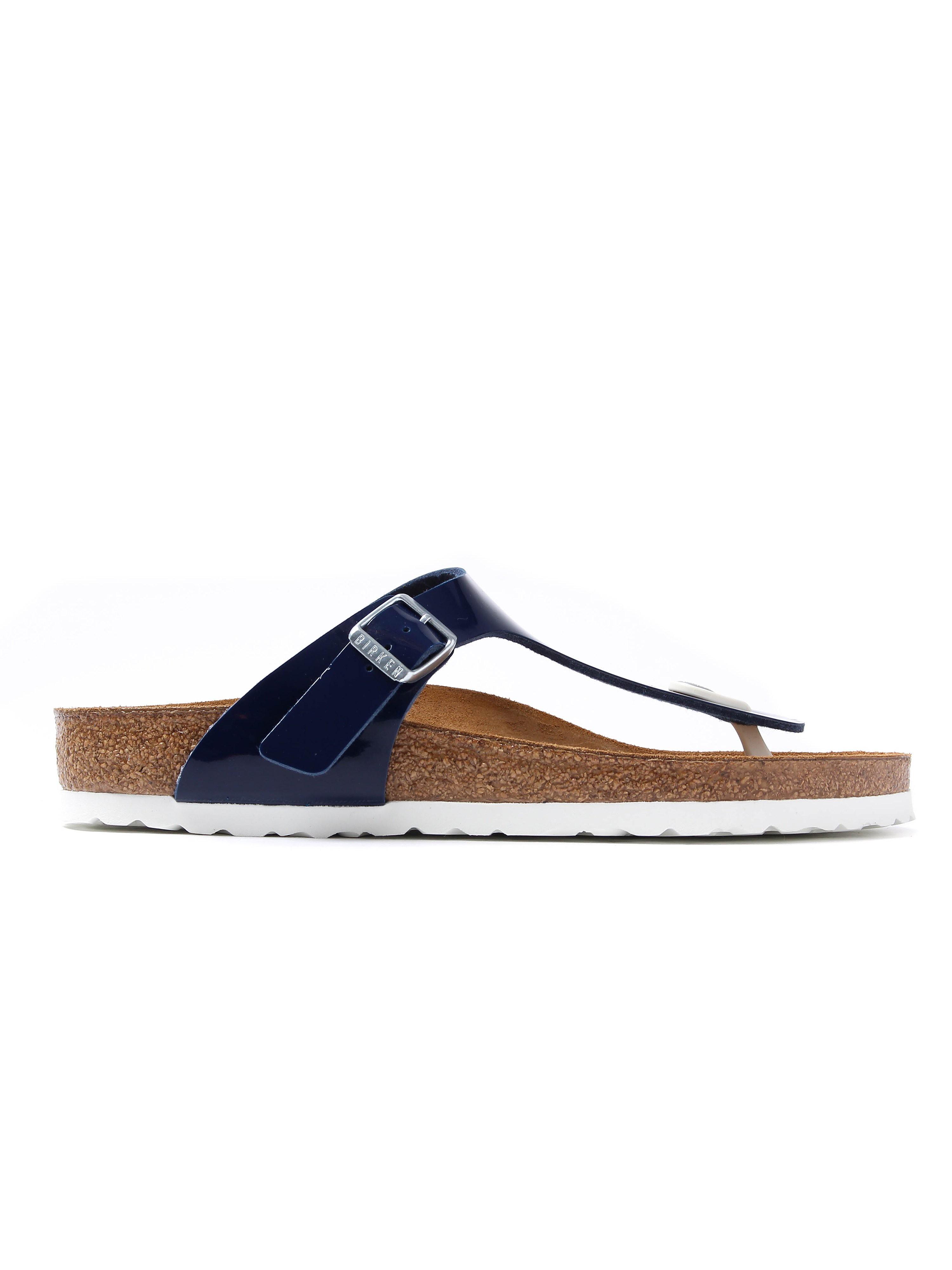 Birkenstock Women's Gizeh Regular Fit Sandals - Navy Patent