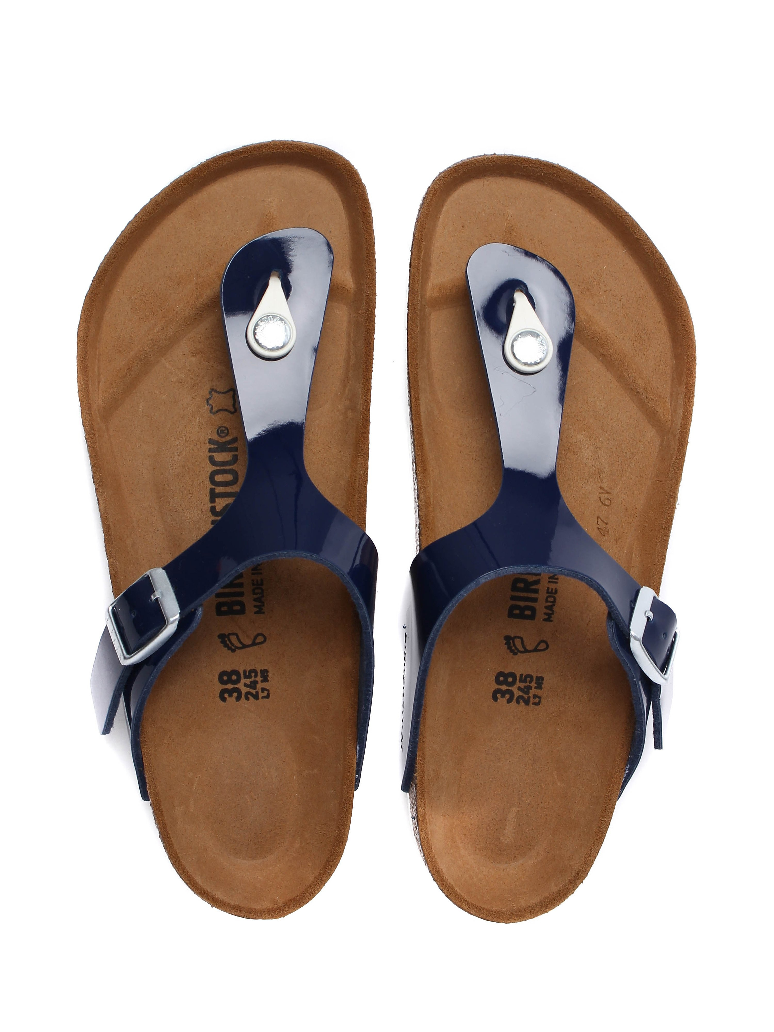 Birkenstock Women's Gizeh Regular Fit Sandals - Navy Patent